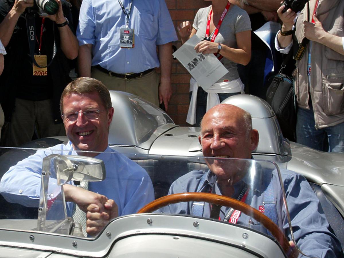 Legenda Formuły 1 Stirling Moss na trasie rajdu