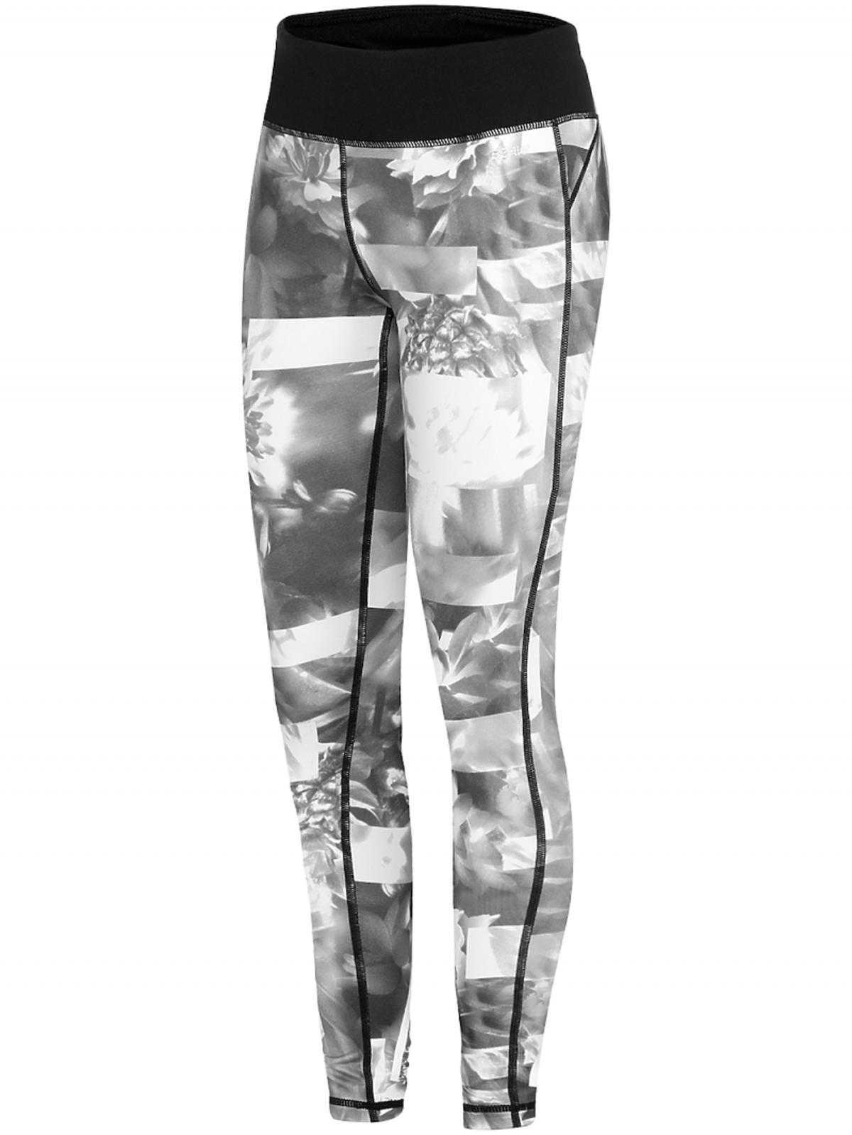 legginsy w czarno-białe wzory