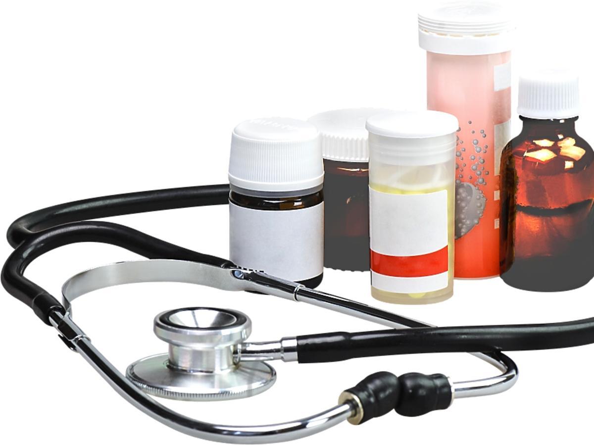 lekarstwa i stetoskop