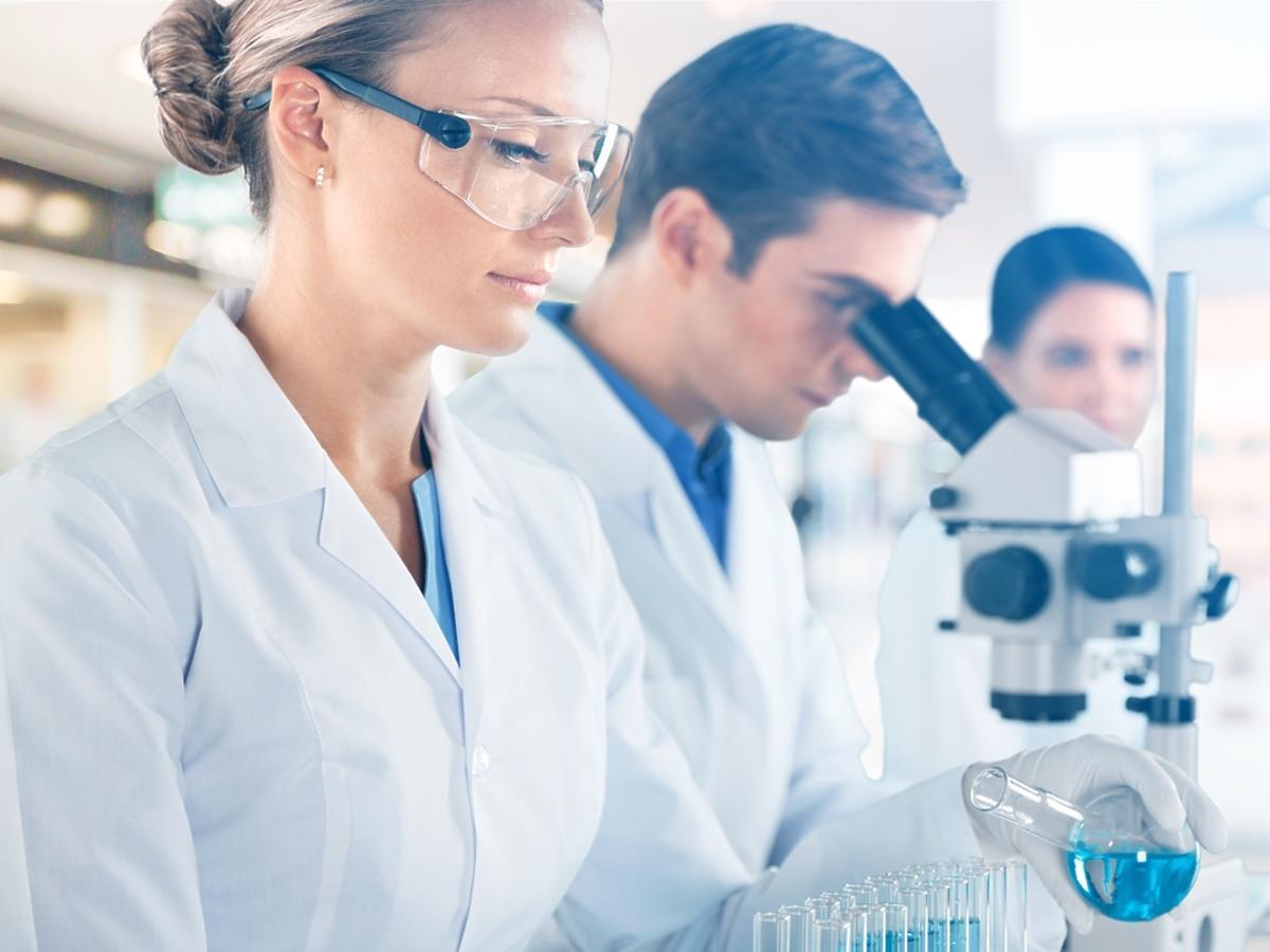 lekarze robiący badania