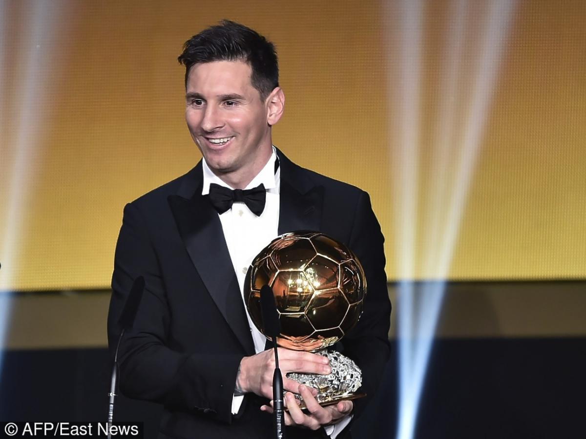 Leo Messi ze Złotą Piłką