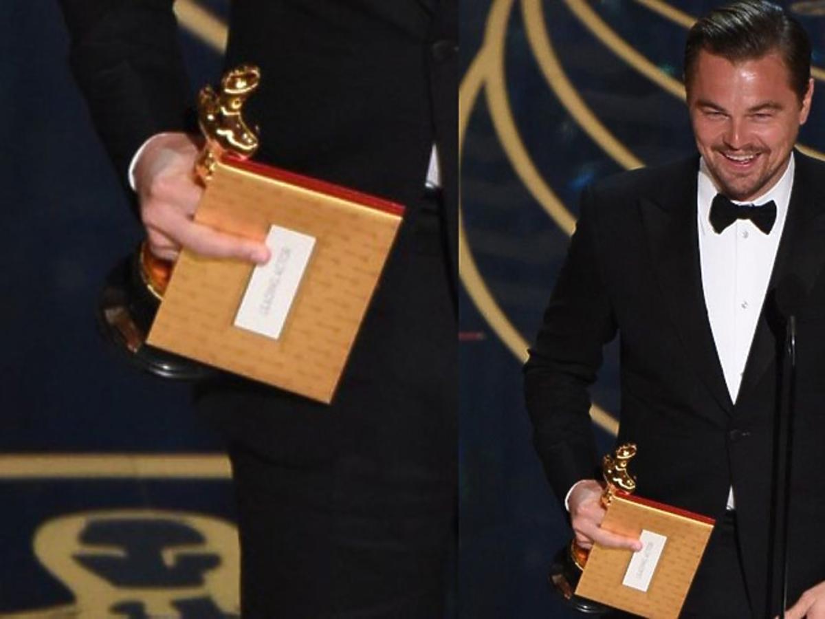 Leonardo DiCaprio pokazał środkowy palec na Oscarach
