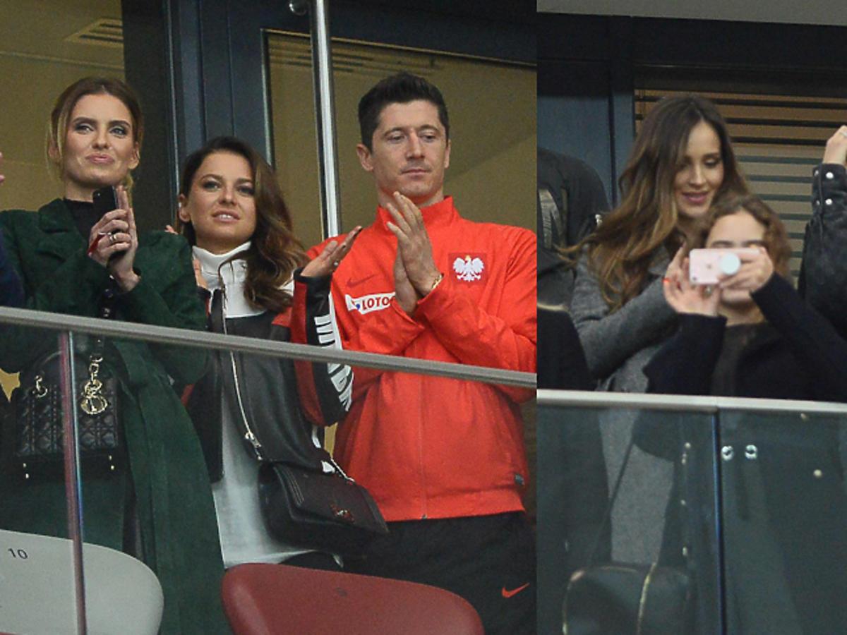 Lewandowscy, Marina, Boruc na trybunach na meczu Polska Urugwaj