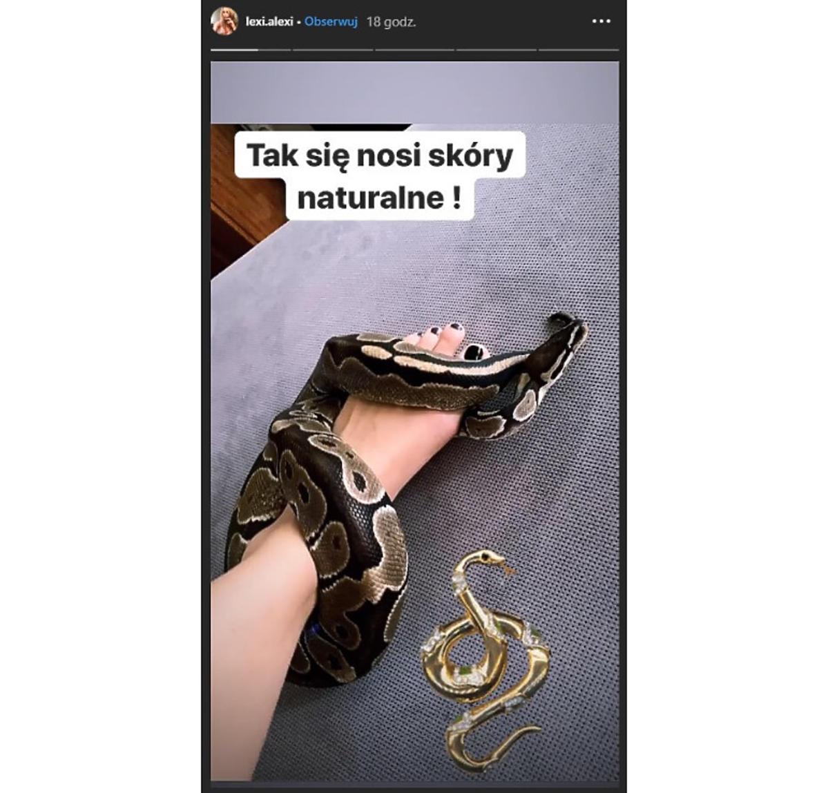 Lexi z Hotel Paradise zdjęcie z wężem