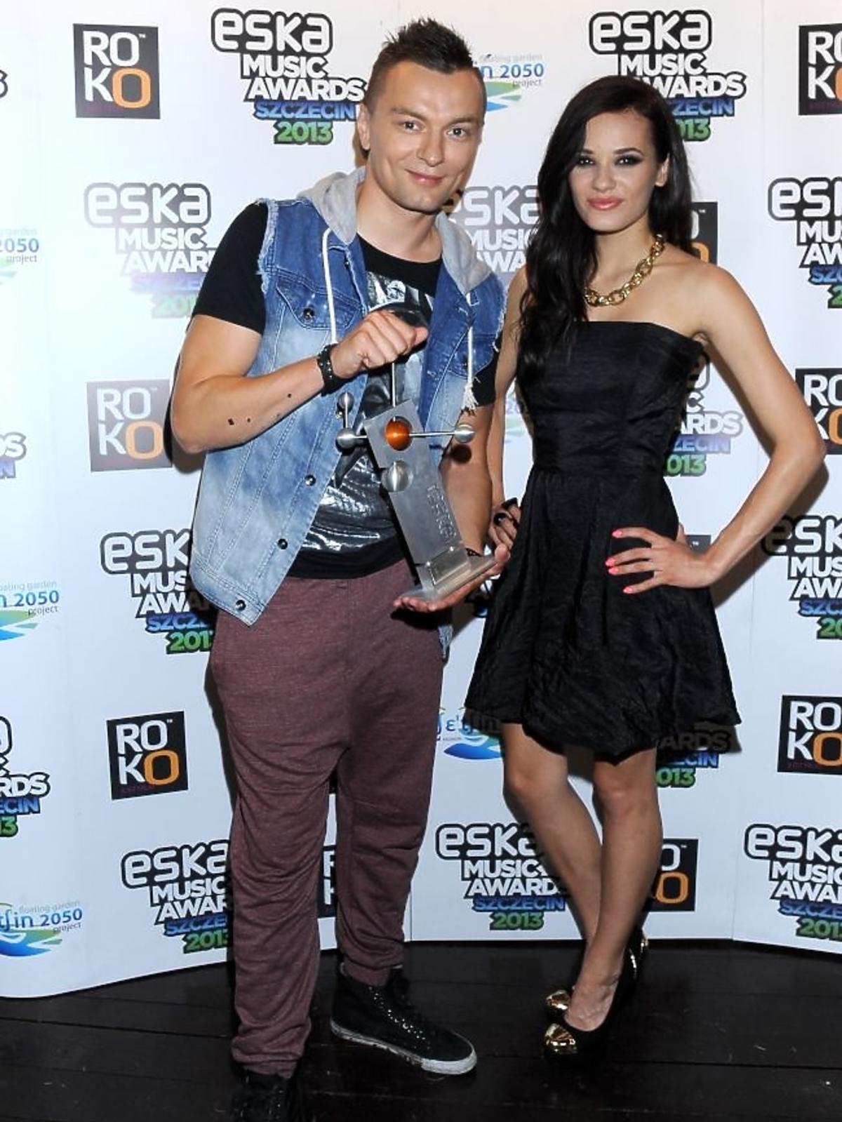 Liber i Natalia Schroeder na gali Eska Music Awards 2013