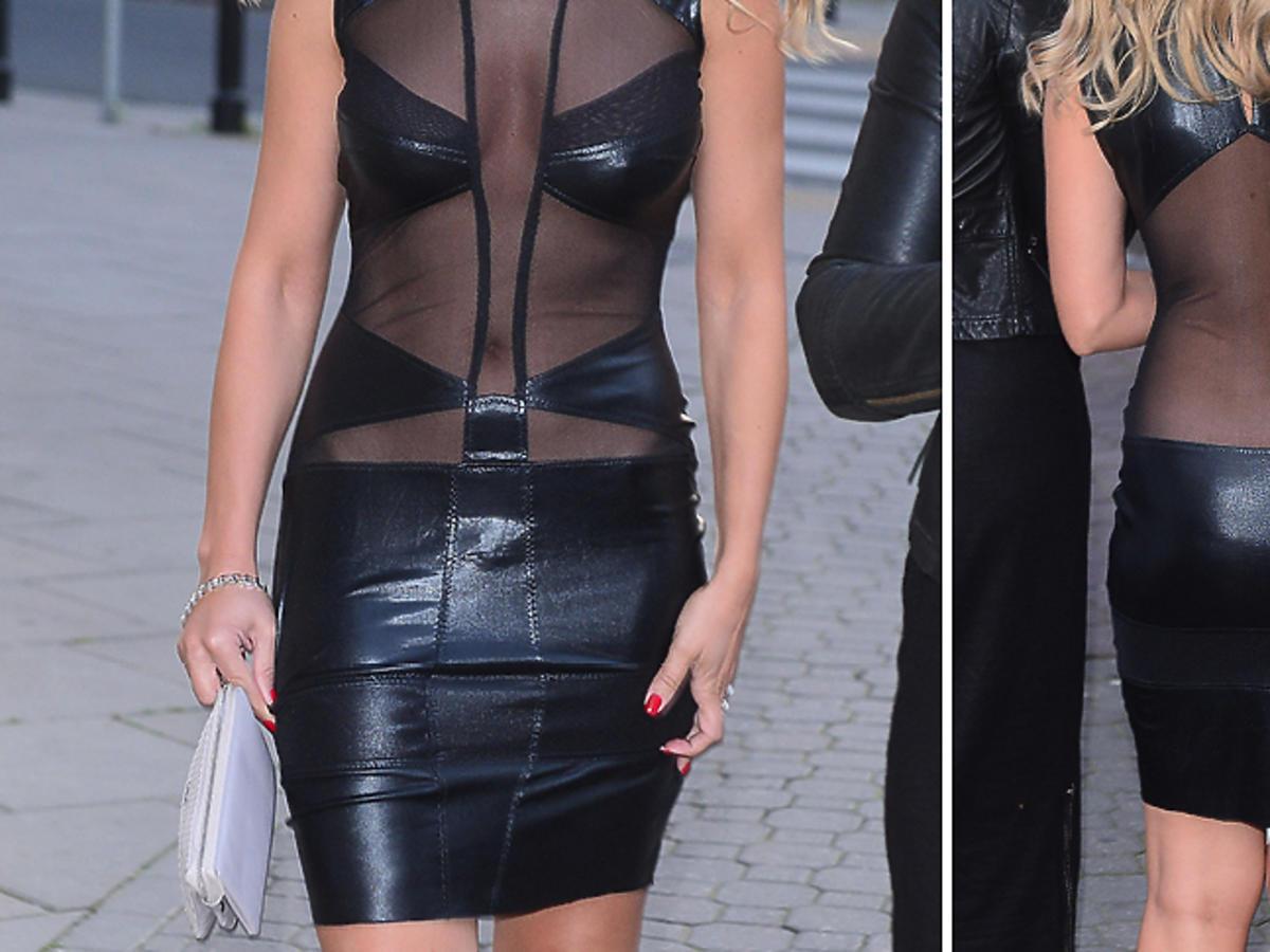 Lidia Kopania w czarnej sukience z wycięciami