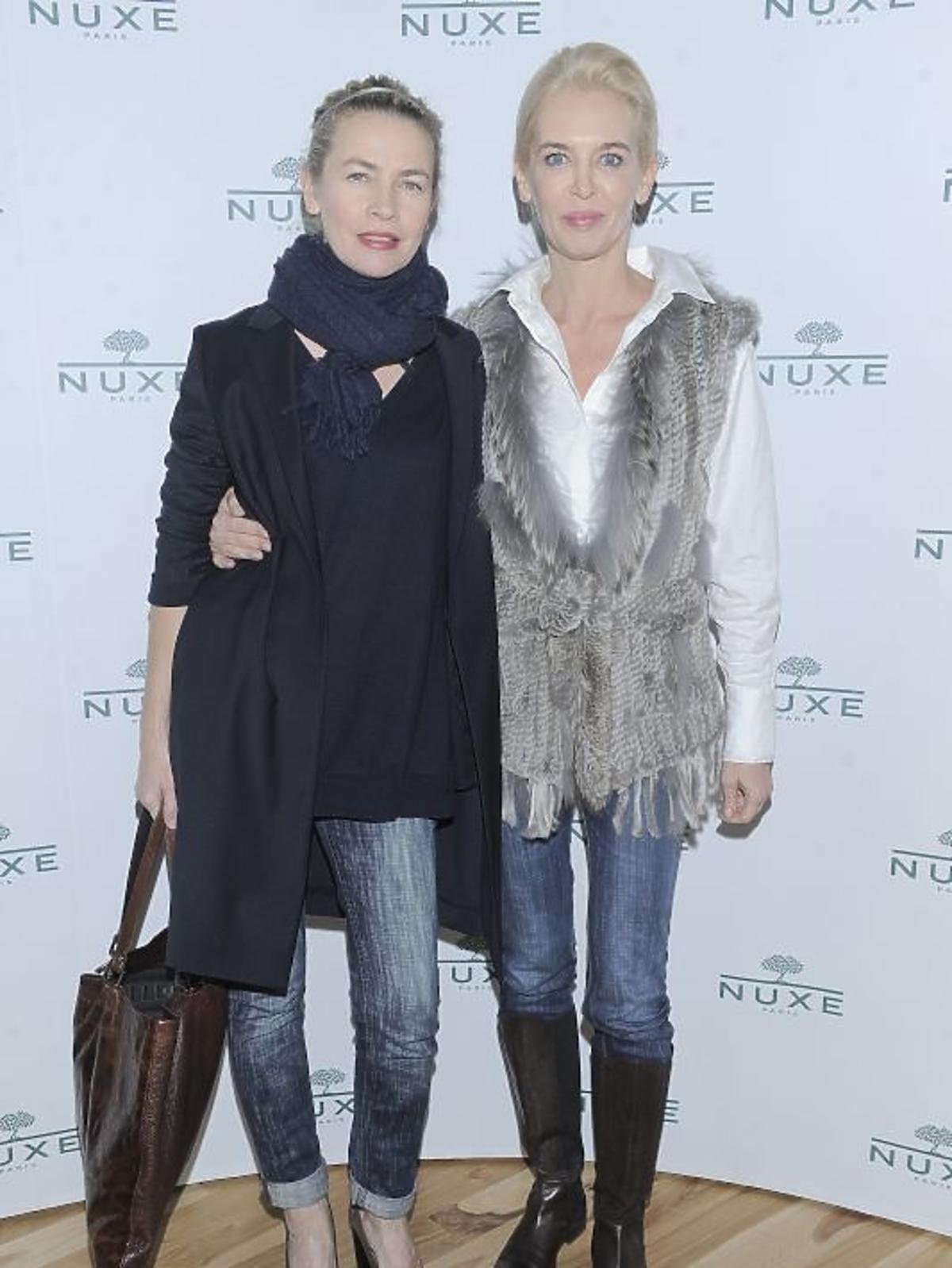 Lidia Popiel i Bogna Sworowska na konferencji prasowej Nuxe Nuxellence Jeunesse