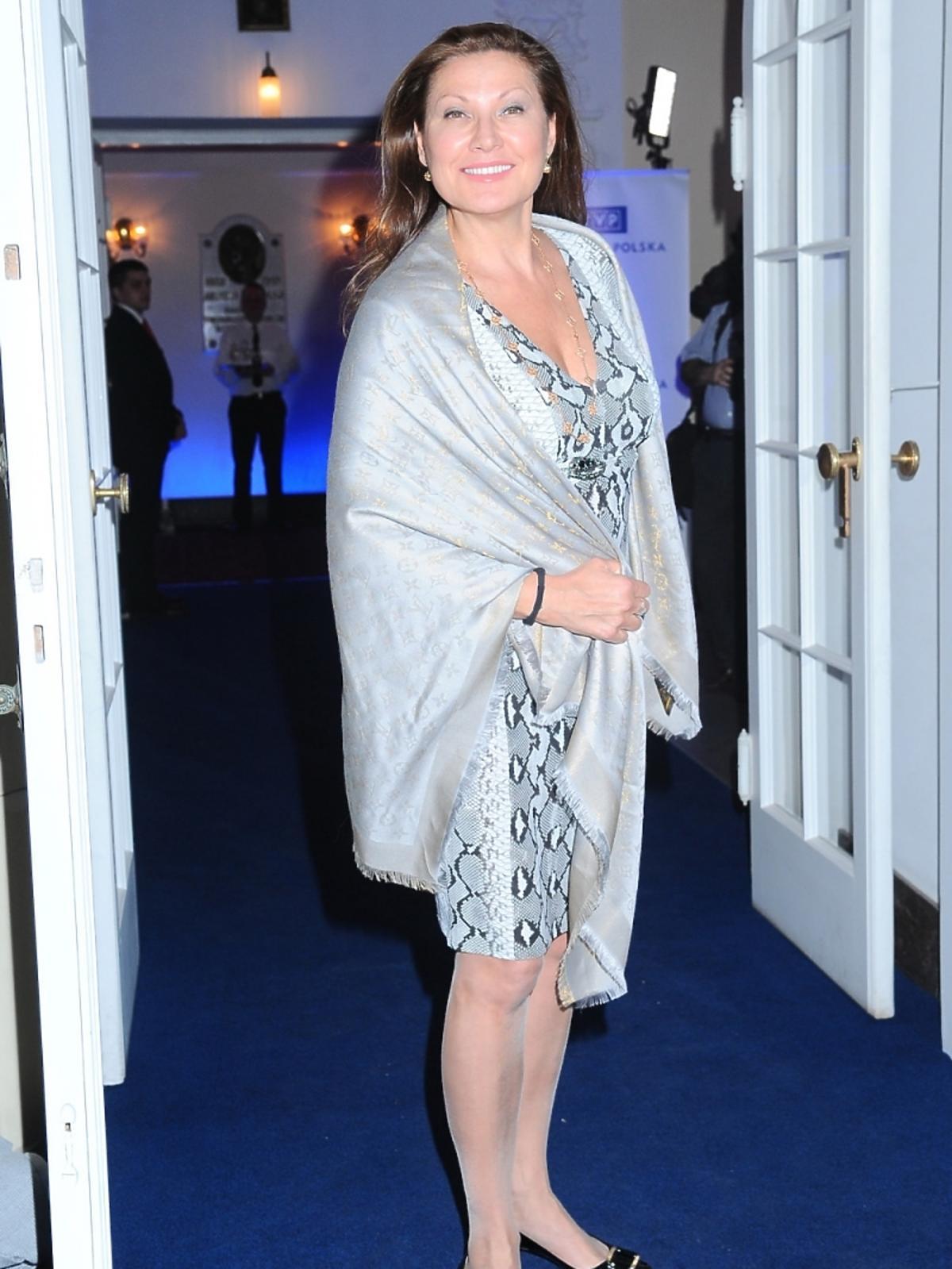 Liliana Komorowska na premierze filmu Apartament