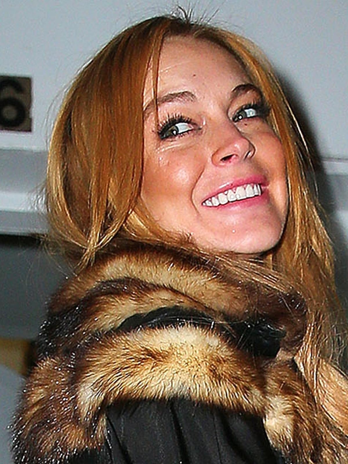 Lindsay Lohan w naturalnym futrze w Los Angeles