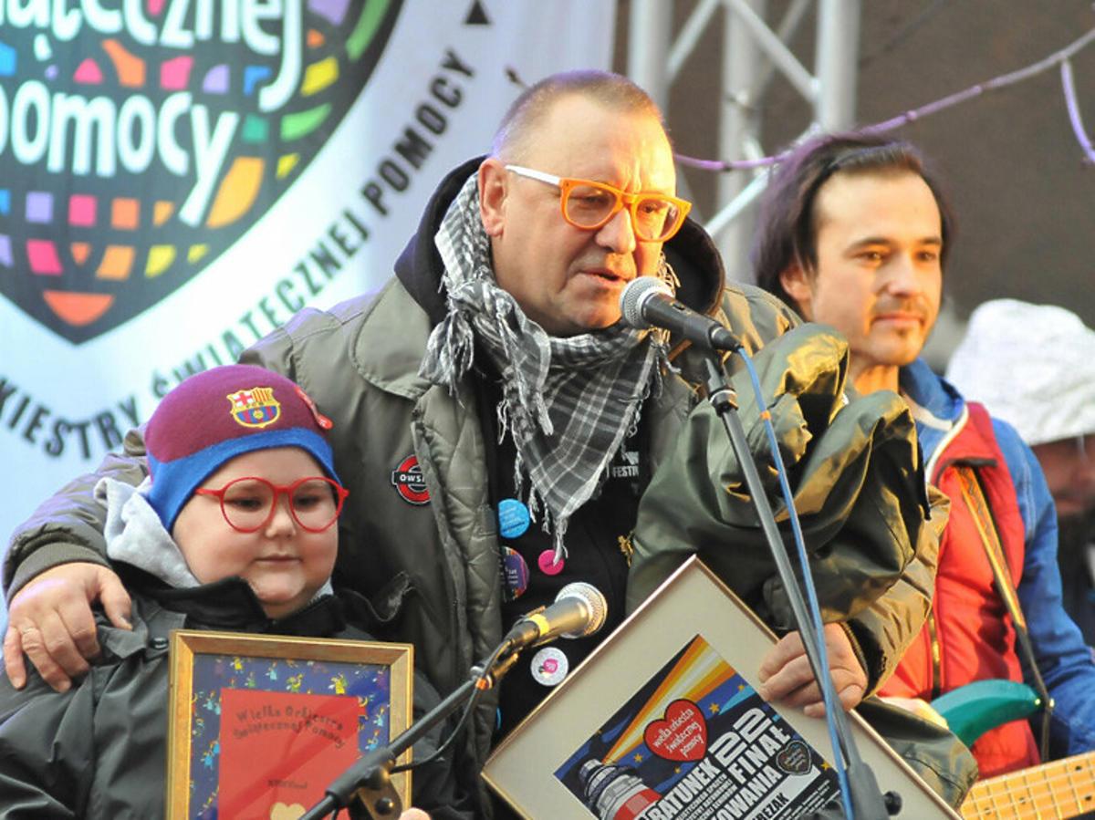 Łukasz Bereziak i Jurek Owsiak