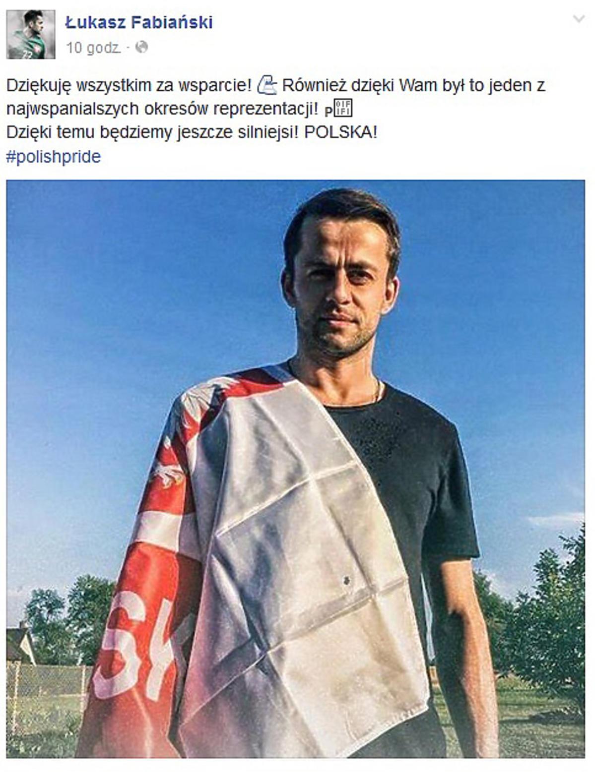 Łukasz Fabiański podziękował swoim fanom za wsparcie