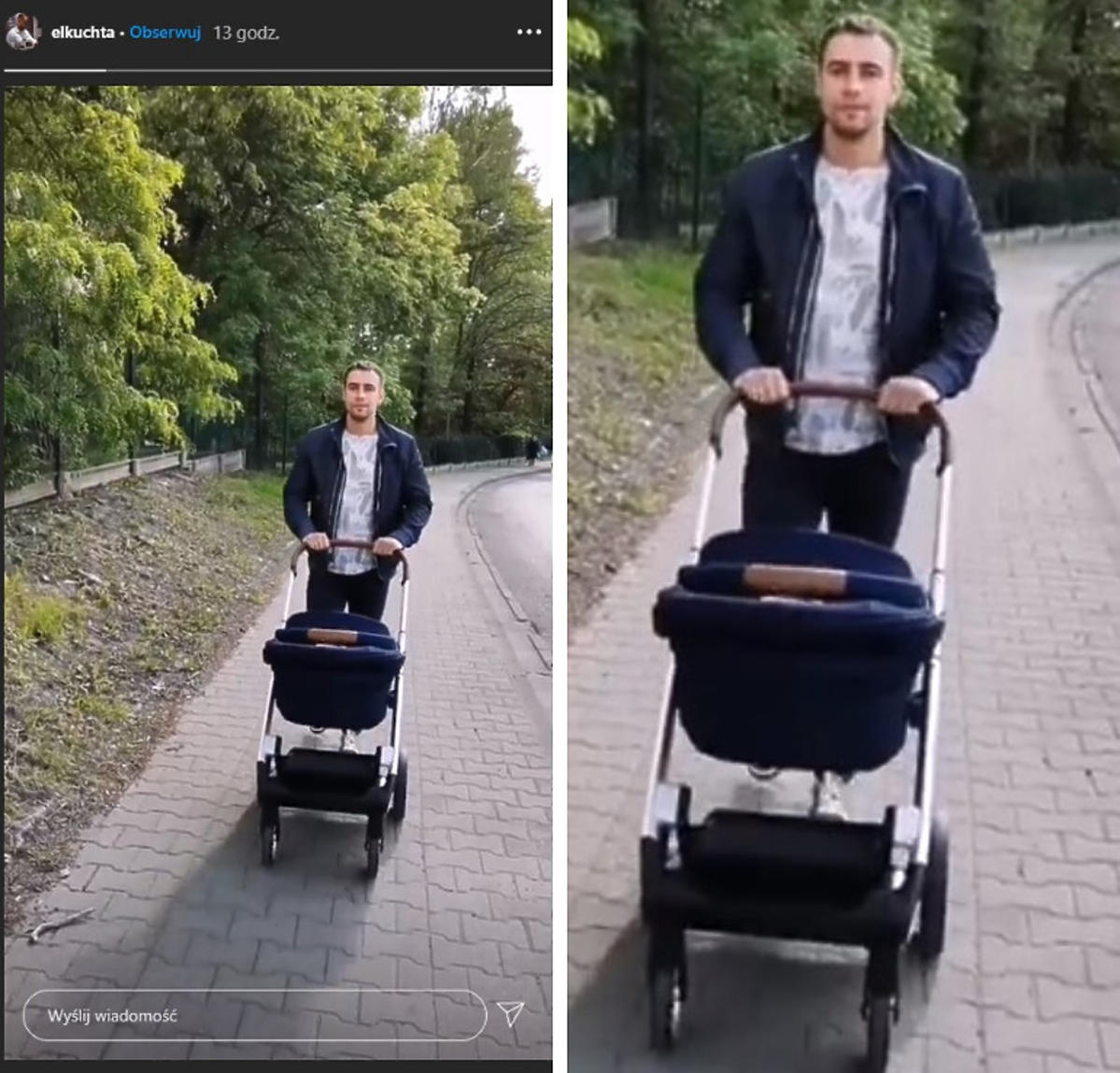 Łukasz Kuchta Ślub od pierwszego wejrzenia spacer z synem