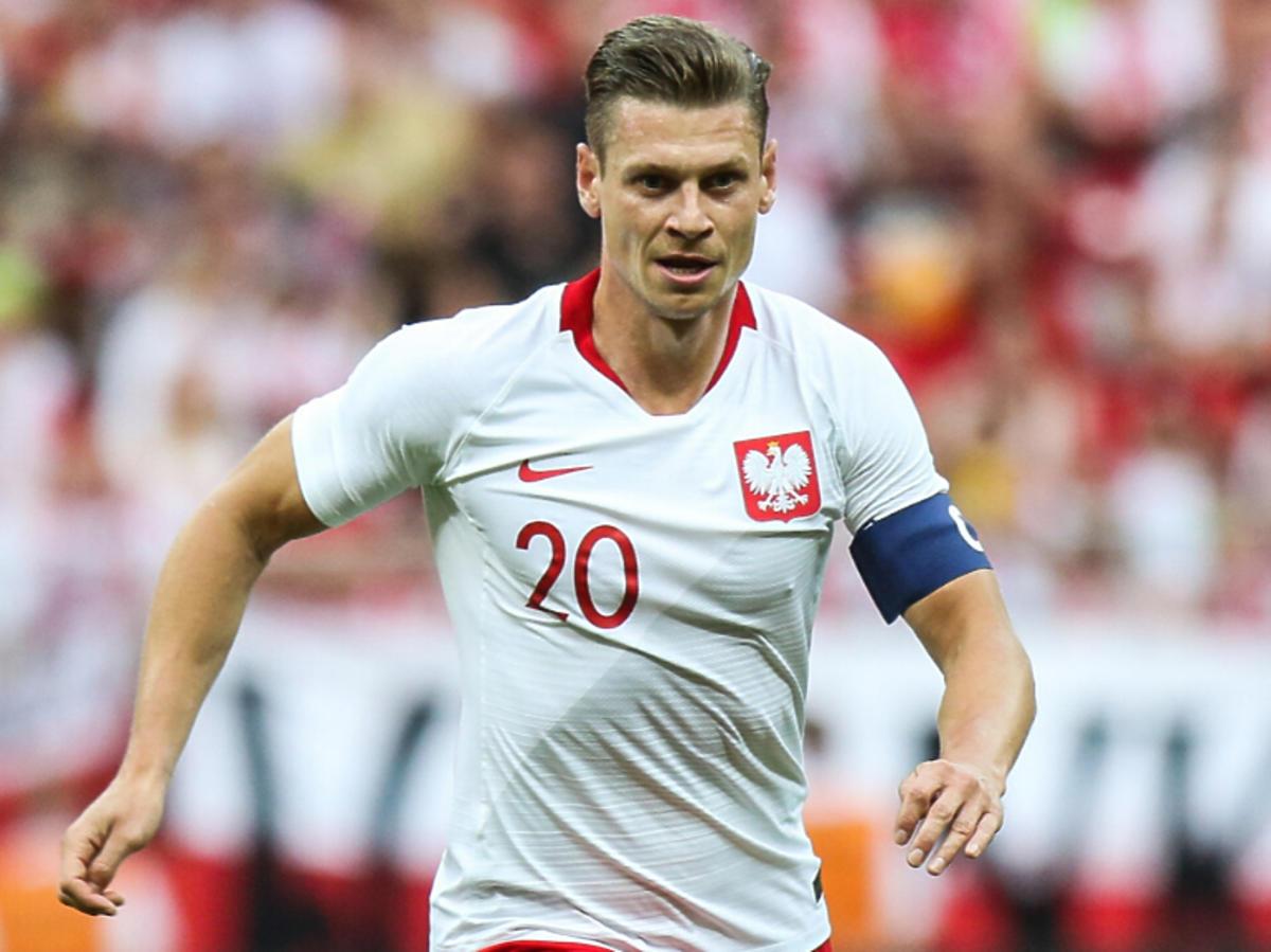 Łukasz Piszczek na meczu reprezentacji Polski