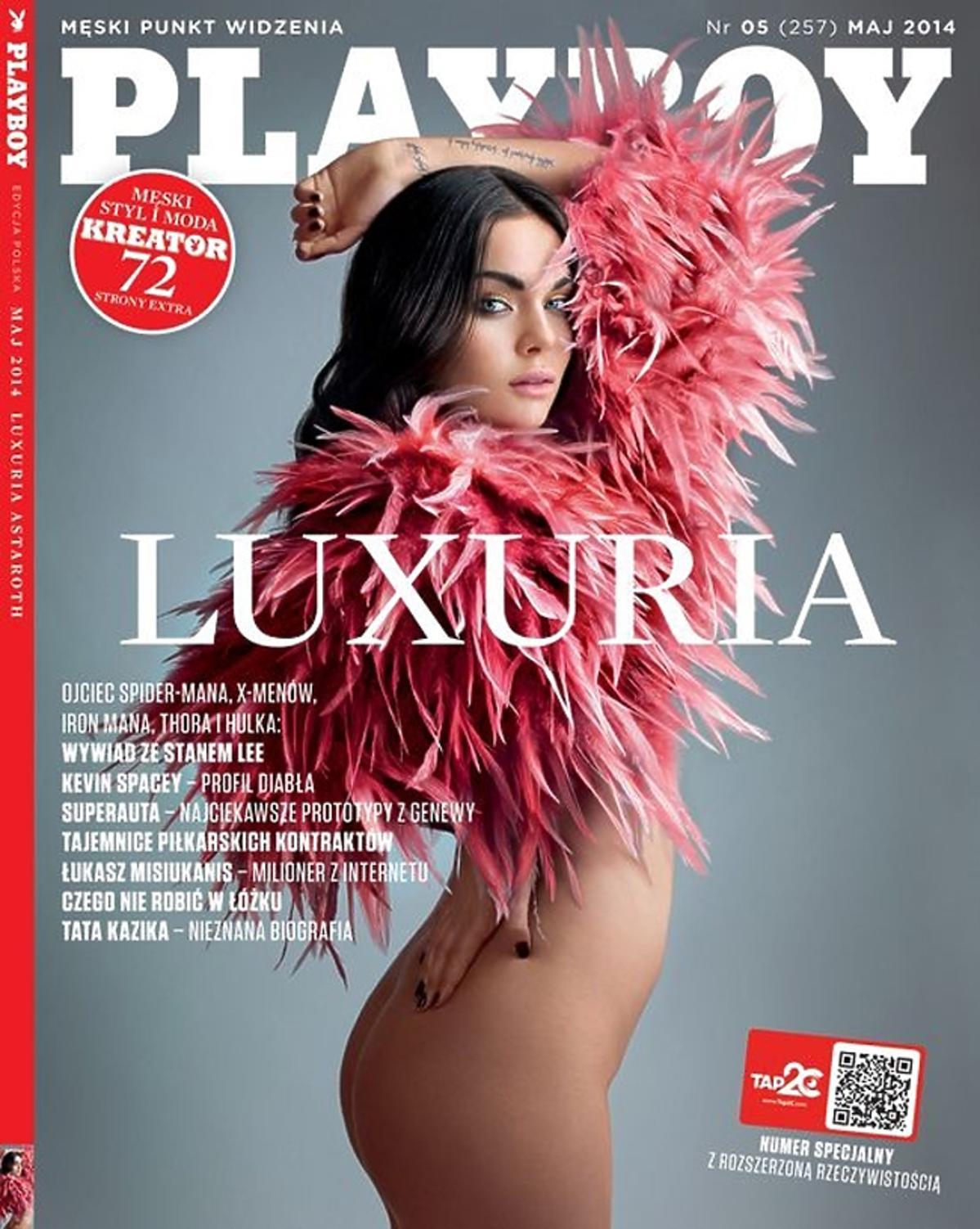 Luxuria Astaroth w Playboyu. Luxuria Astaroth nago. Luxuria Astaroth w Playboyu sesja
