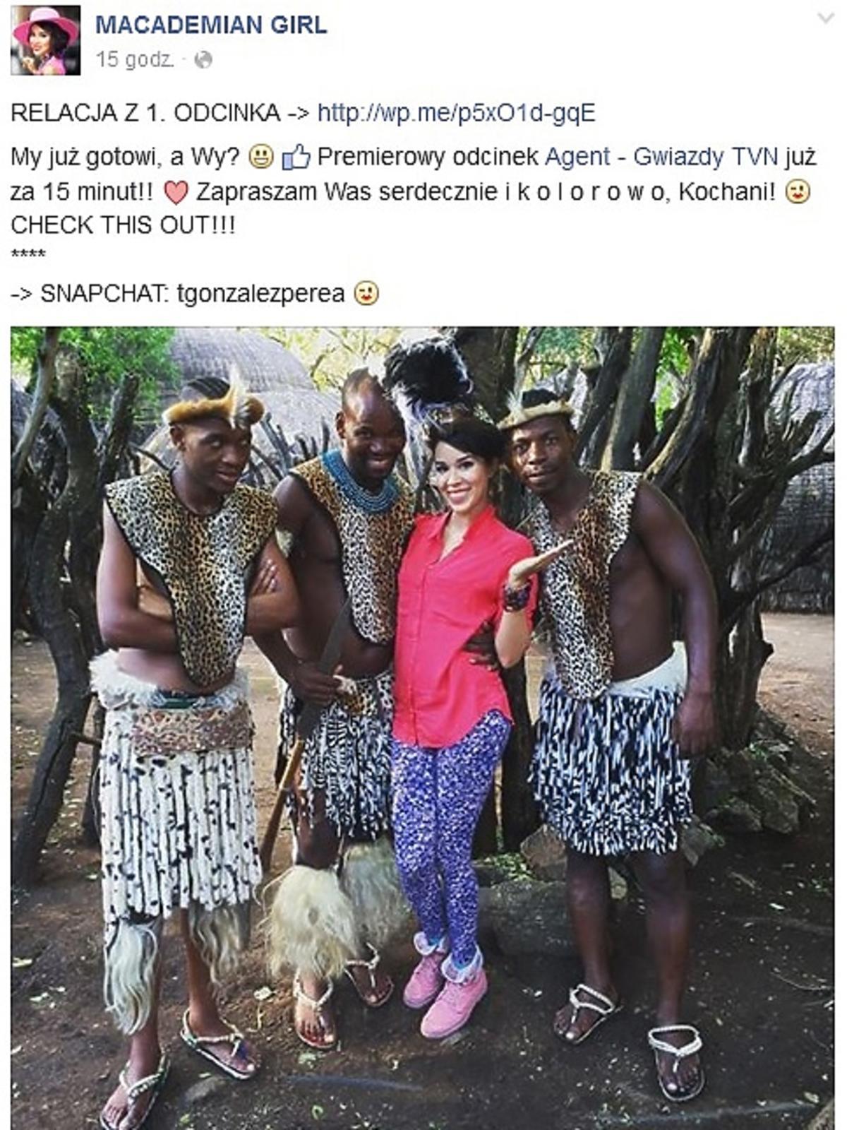 Macademian Girl pokazała zdjęcia z planu Agenta