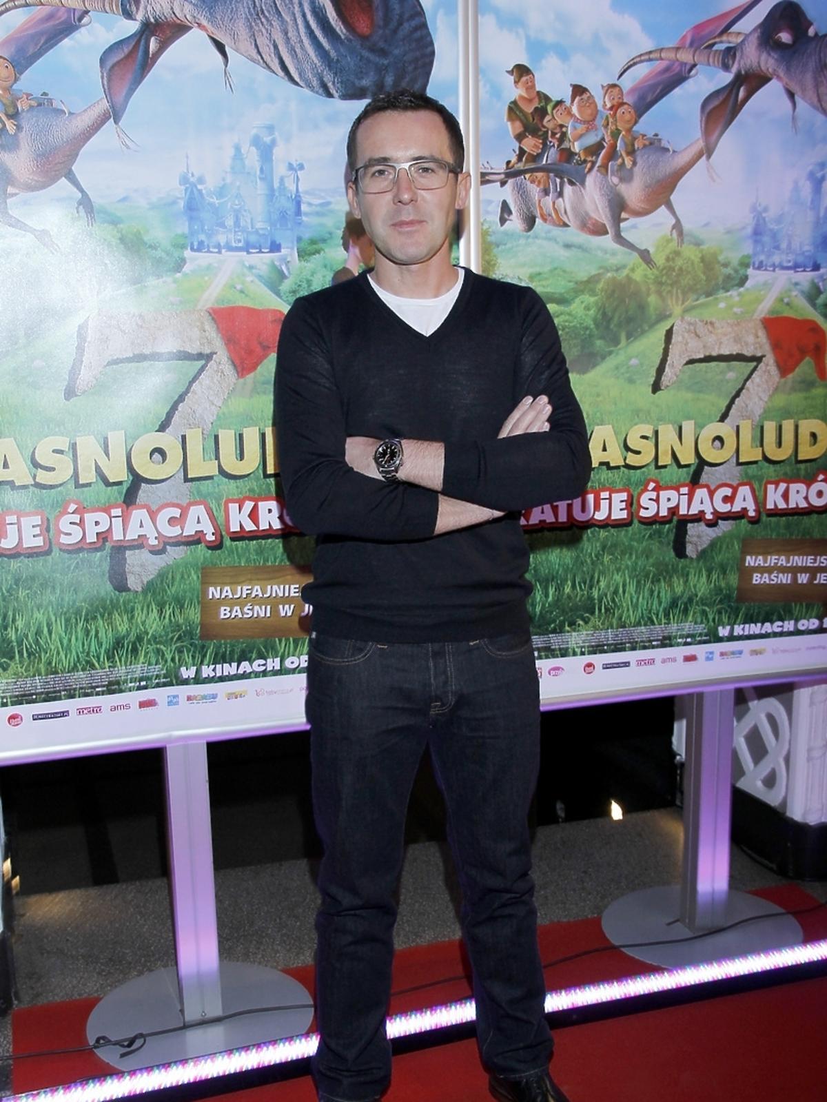Maciej Kurzajewski na premierze filmu