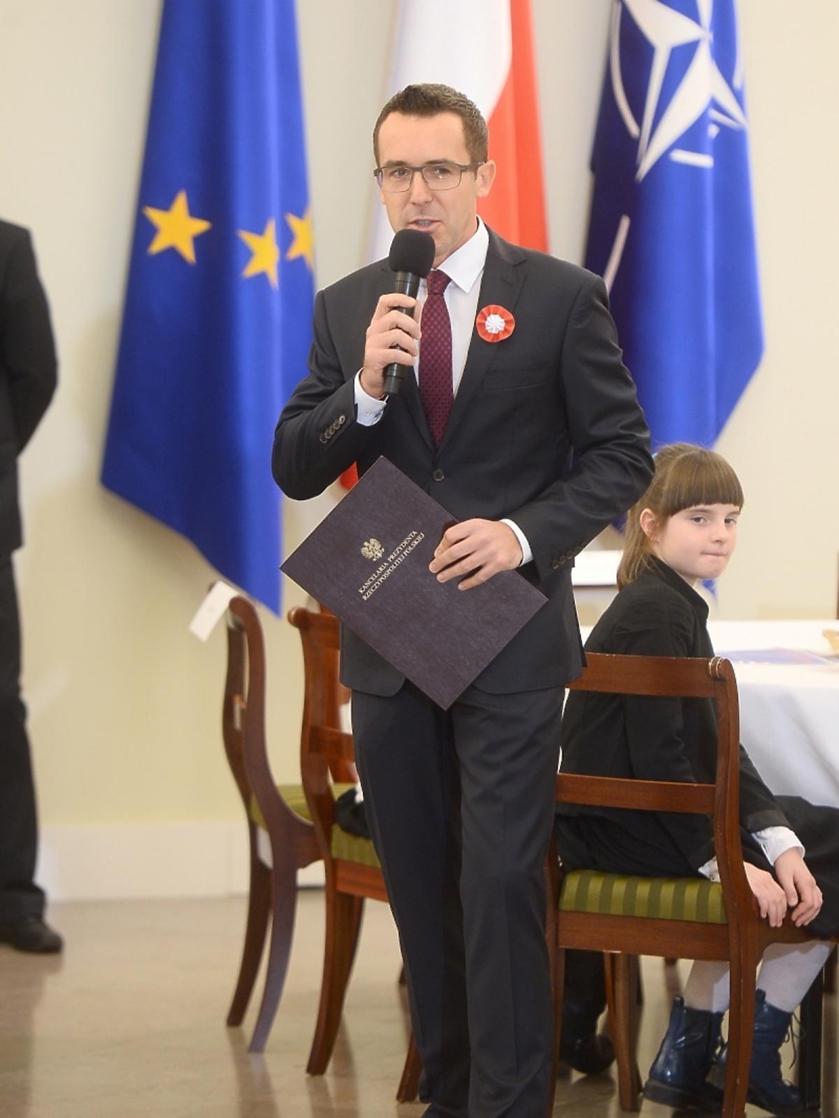 Maciej Kurzajewski na spotkaniu z prezydentem RP