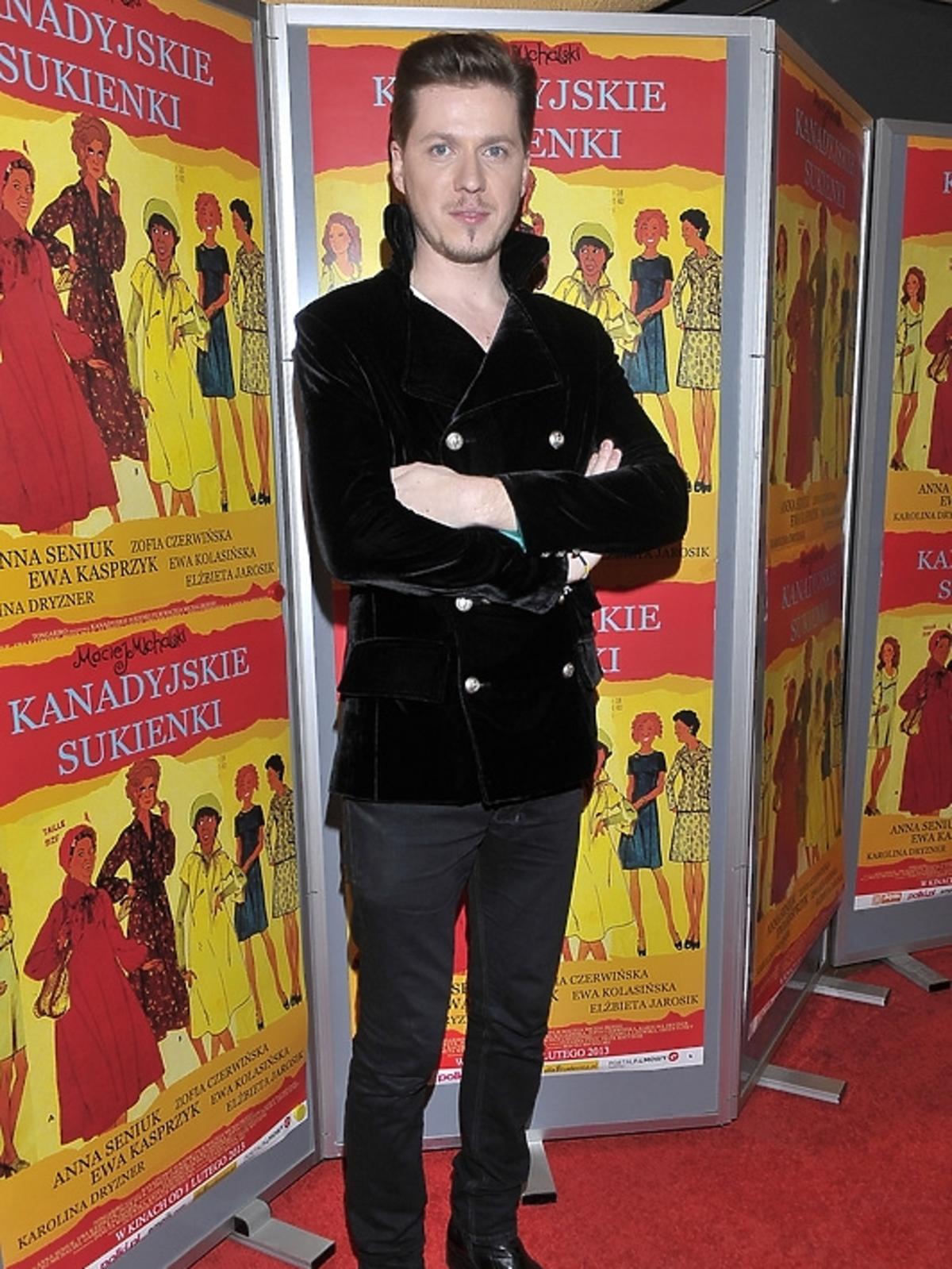 Maciej Michalski na premierze filmu
