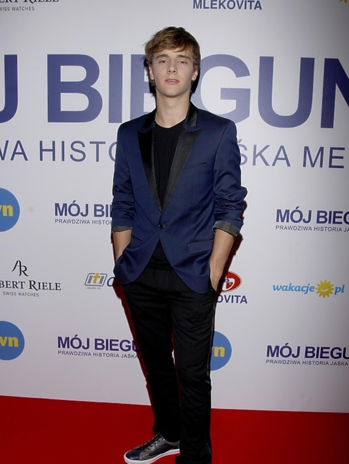 Maciej Musiał na premierze filmu