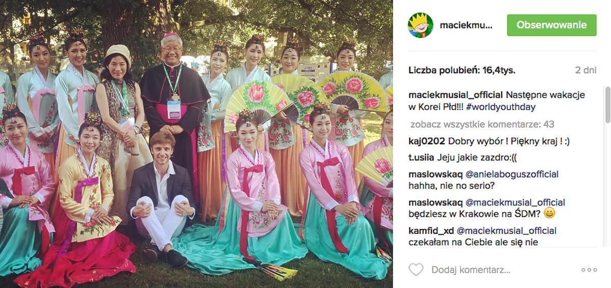 Maciej Musiał na Światowych Dniach Młodzieży