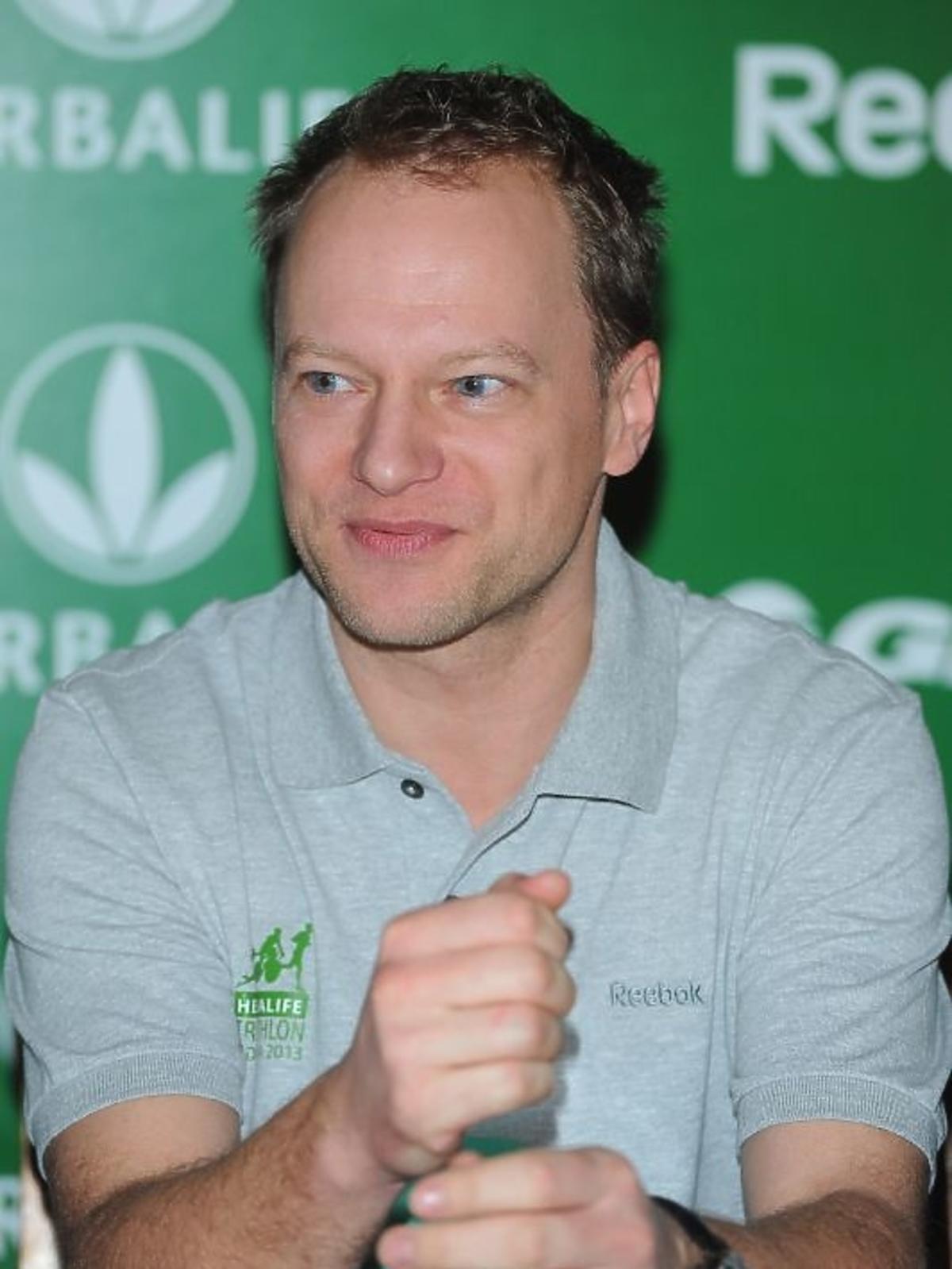 Maciej Sthur na konferencji Herbalife Triathlon 2013