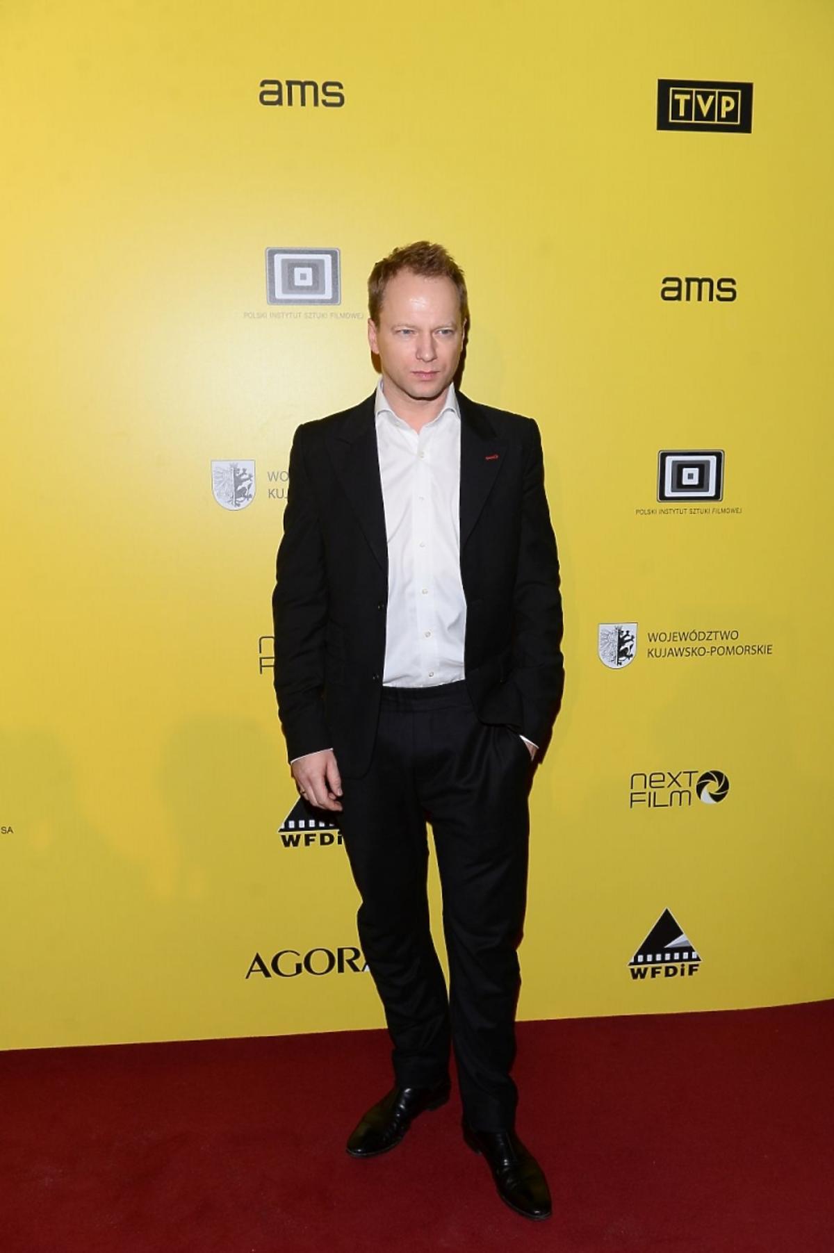 Maciej Stuhr na premierze filmu