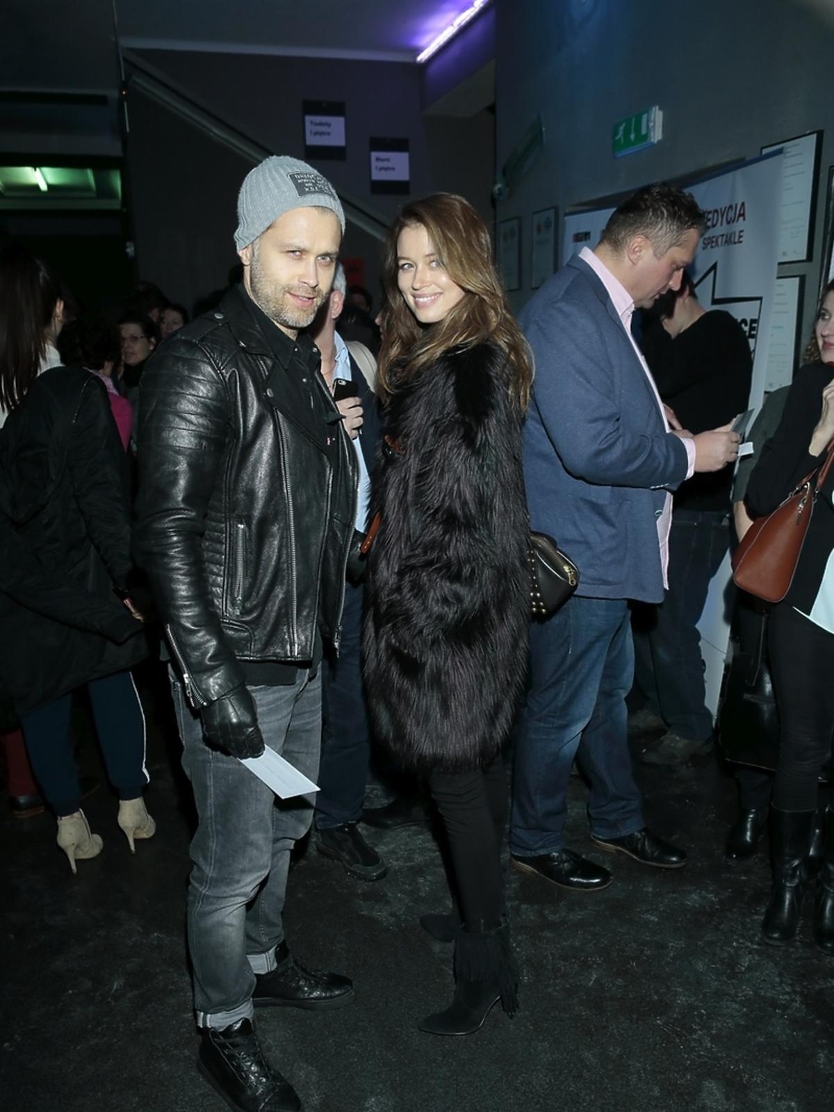 Maciej Zakościelny i Paulina Wyka na premierze spektaklu