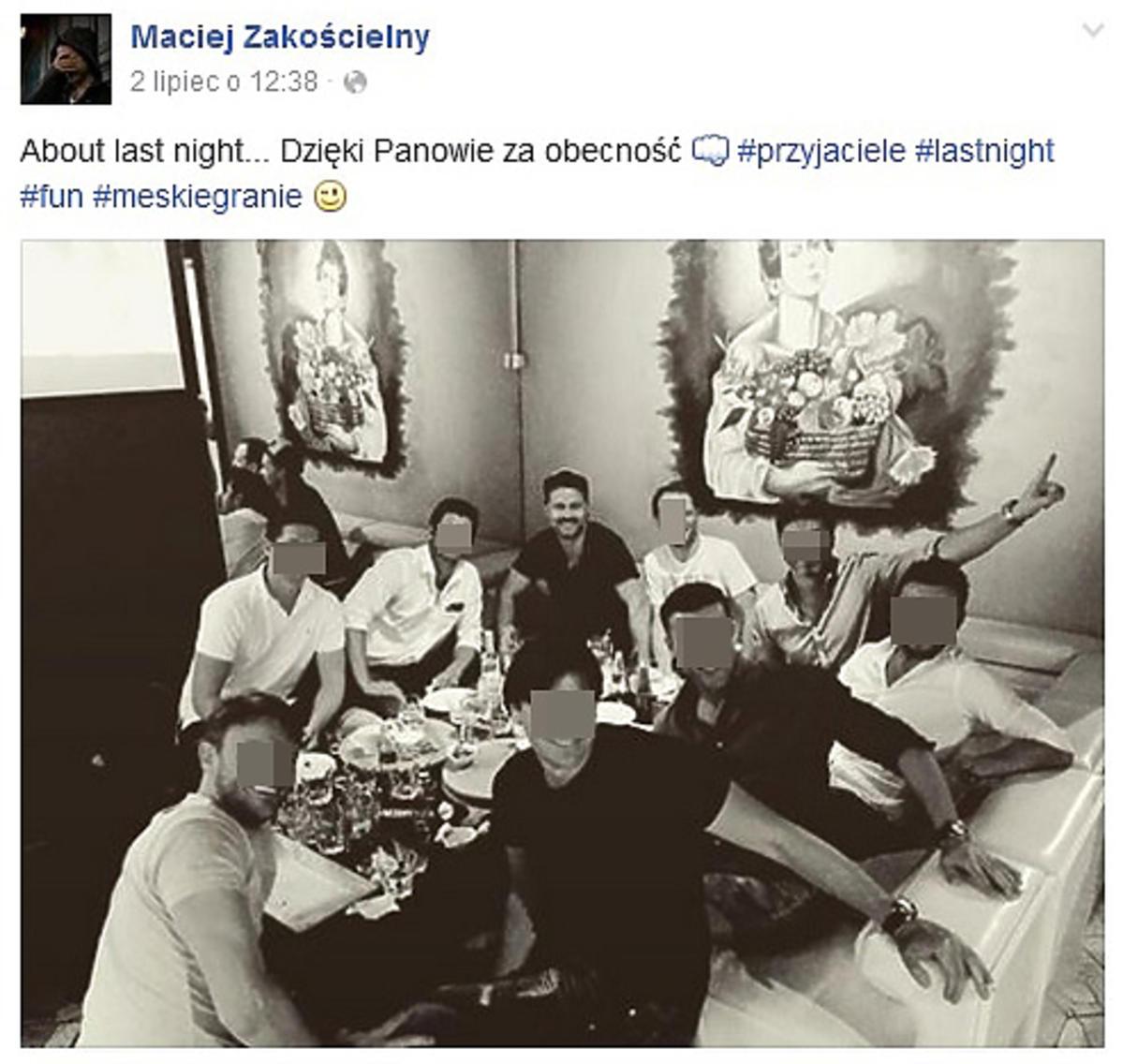 Maciej Zakościelny został tatą