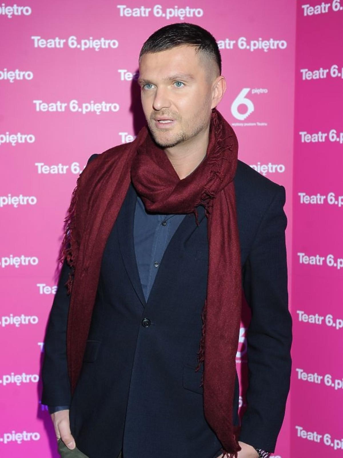 Maciej Zień na premierze sztuki
