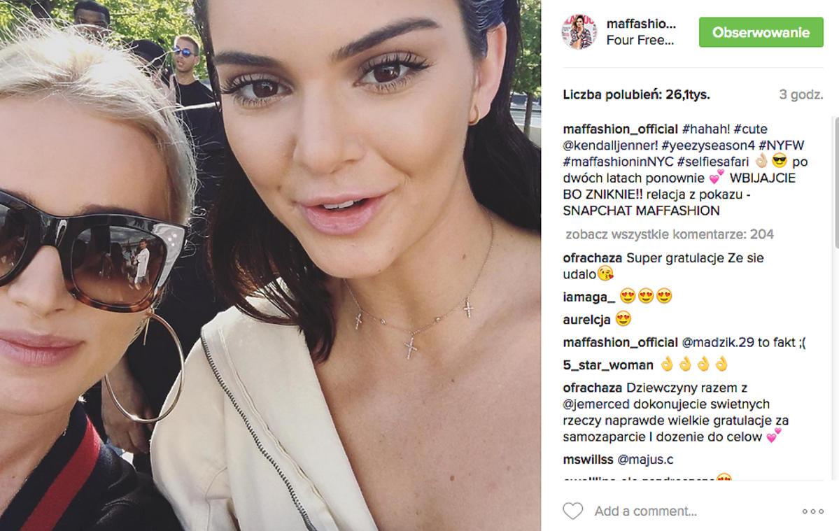 Maffashion z Kendall Jenner