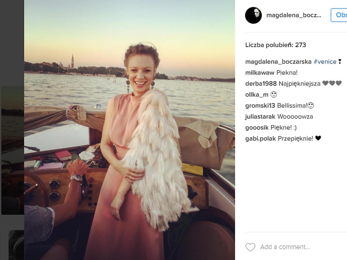 Magda Boczarska na ślubie Agnieszki Szulim
