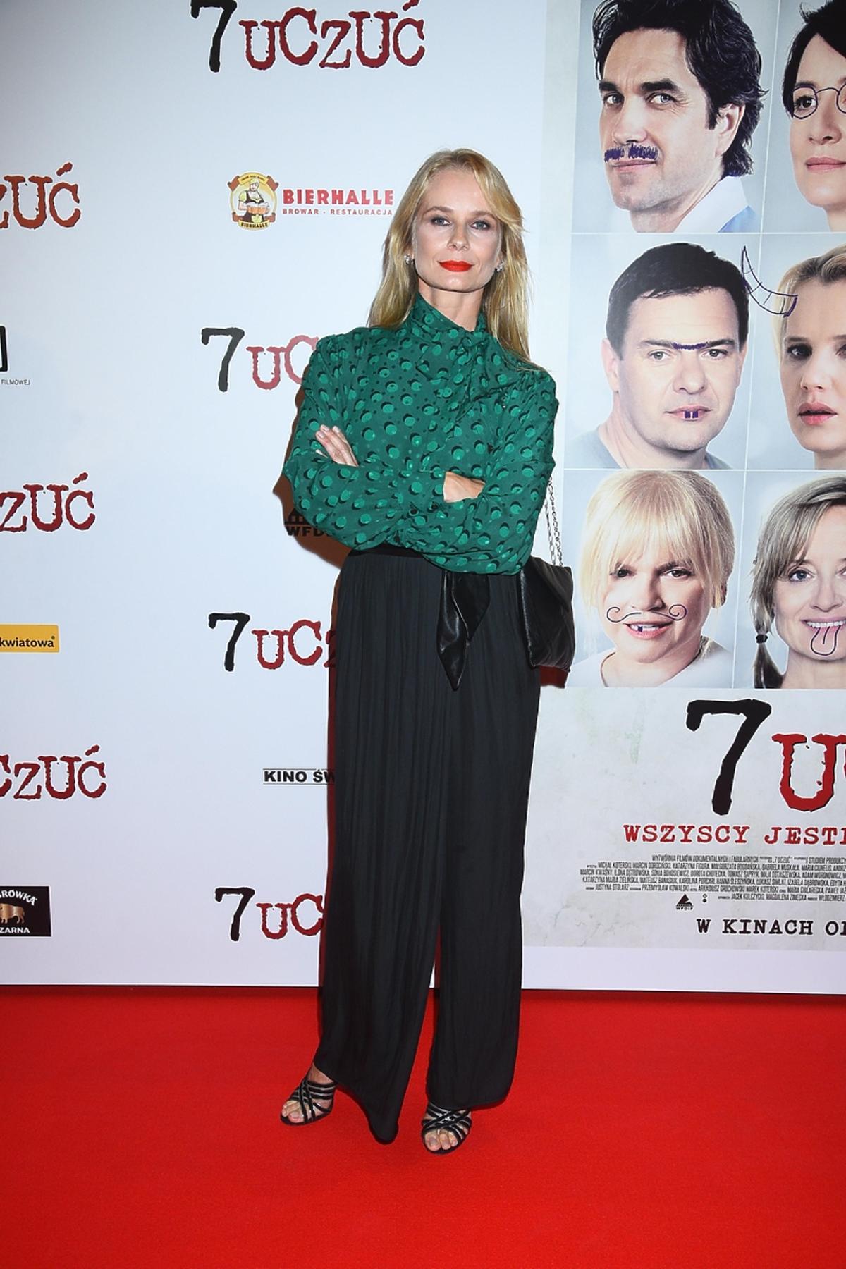 Magda Cielecka na premierze