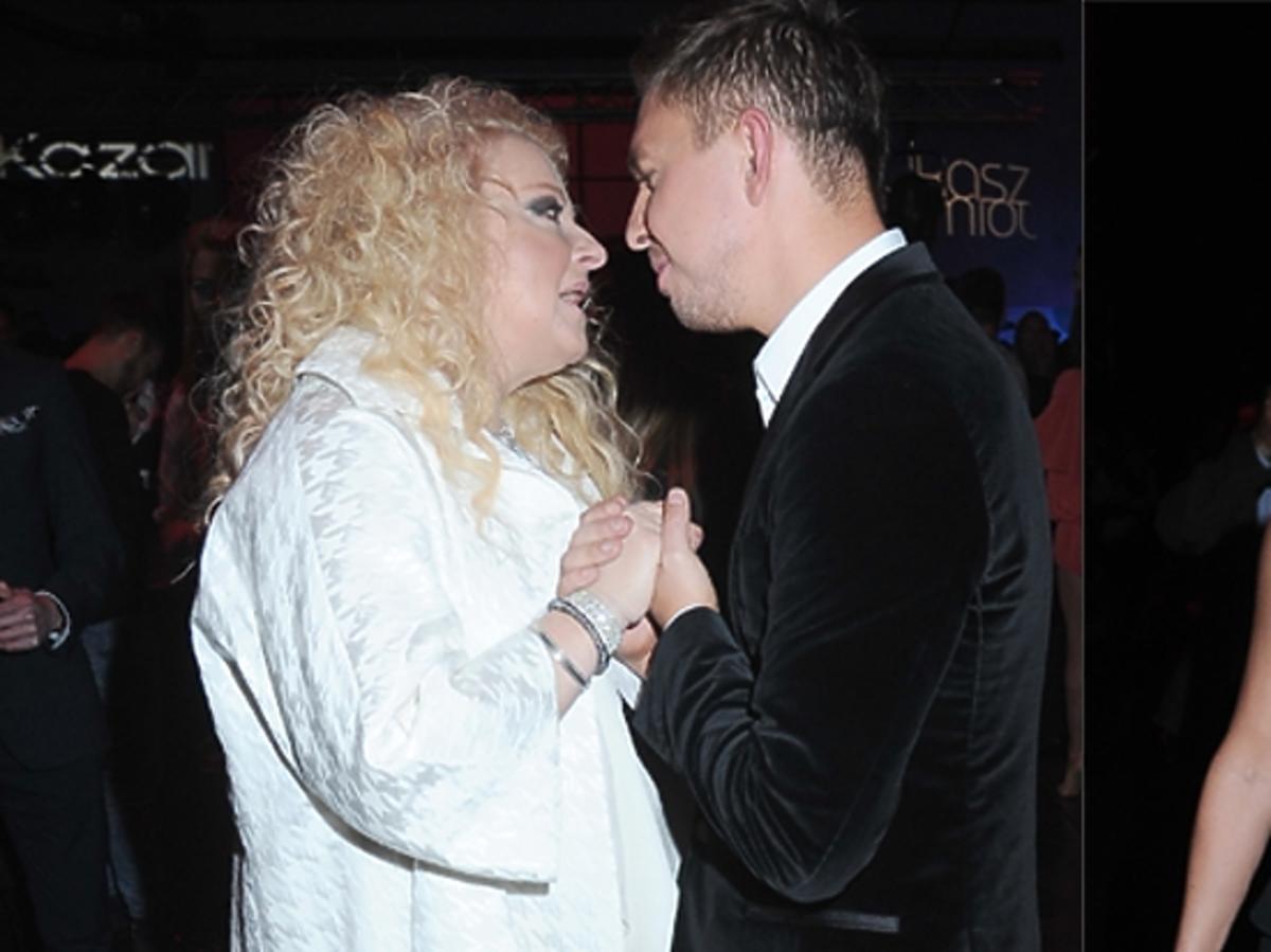 Magda Gessler gratuluje Łukaszowi Jemiołowi