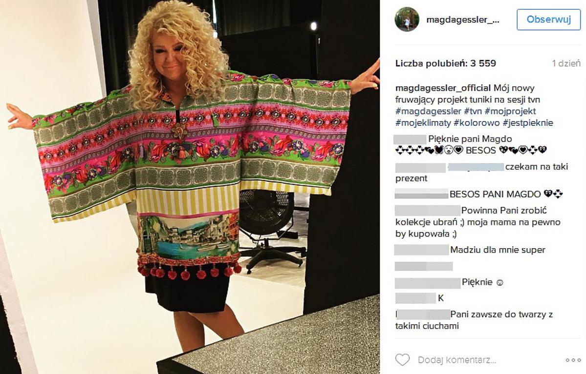 Magda Gessler pochwaliła się własną kolekcją ubrań