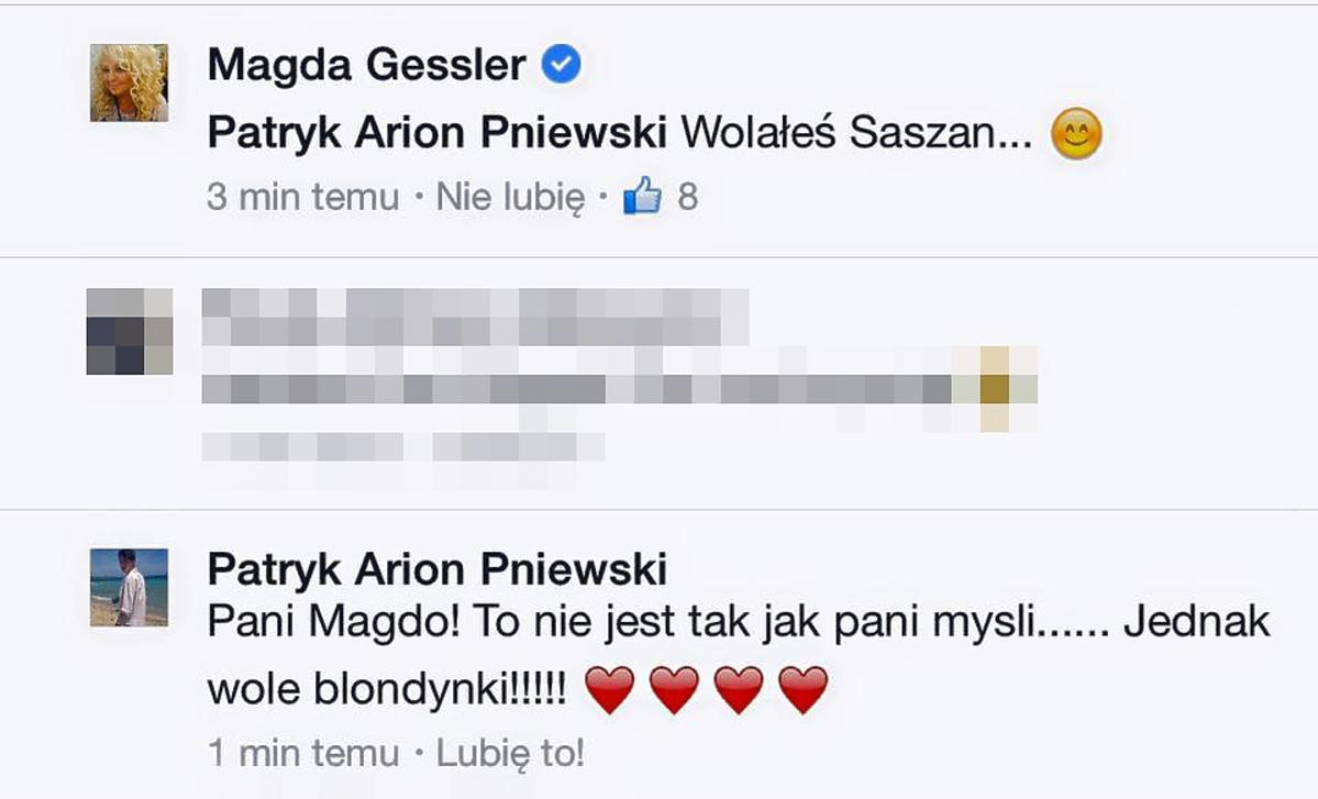 Magda Gessler podrywa Patryka Pniewskiego