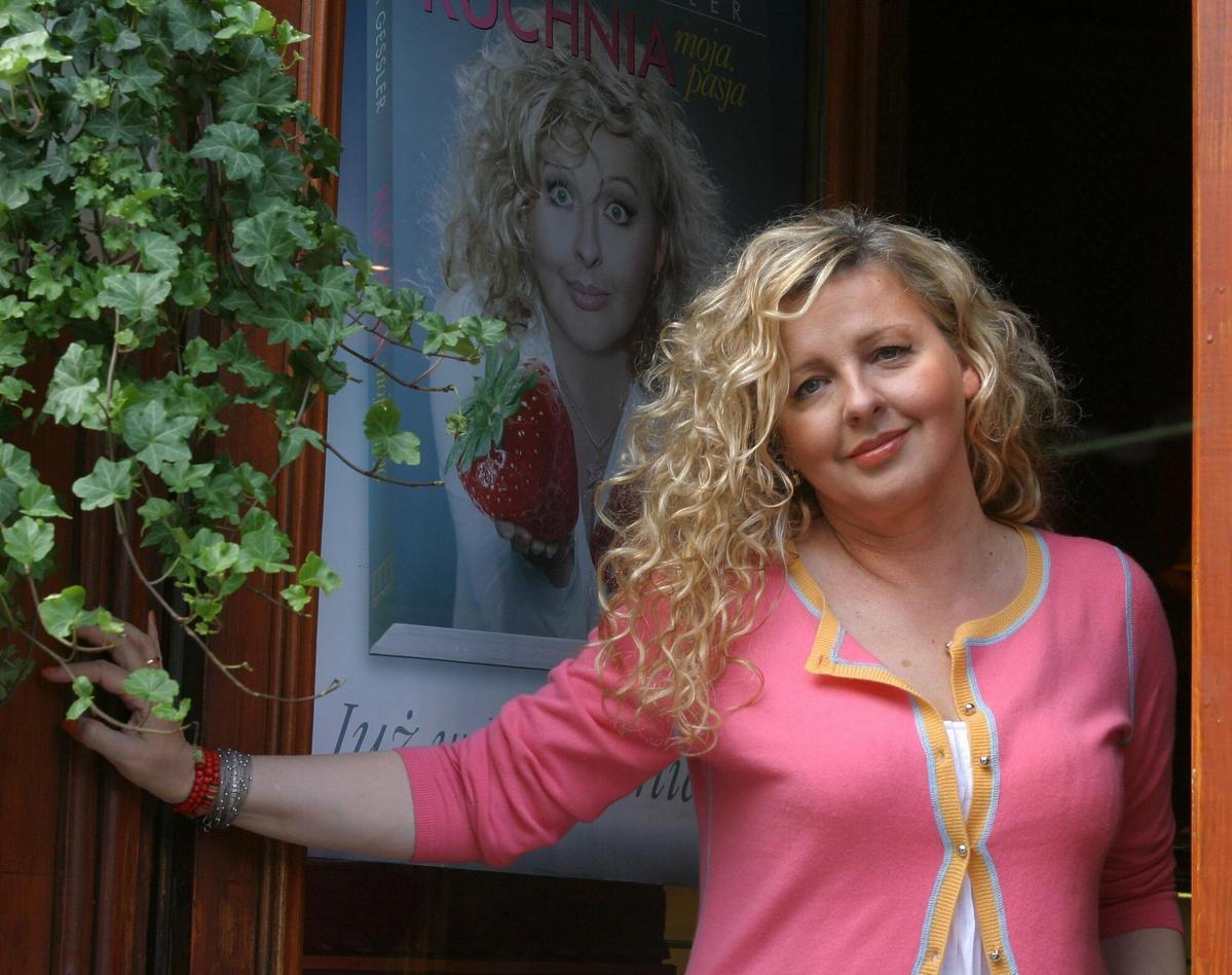 Magda Gessler w swojej restauracji Słodki Słony w 2005 roku