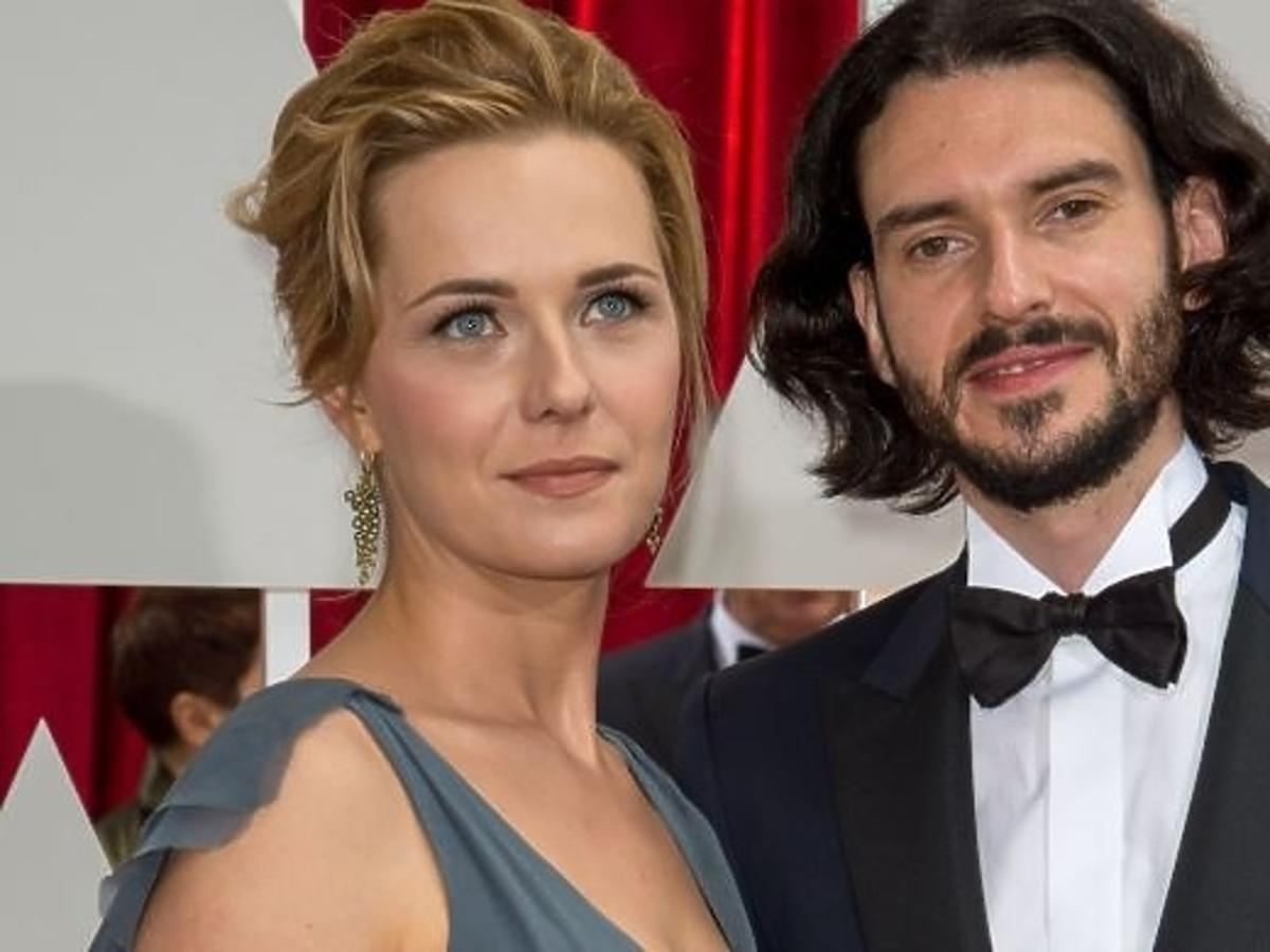 Magda Hueckel-Śliwińska i Tomasz Śliwiński na gali rozdania Oscarów 2015