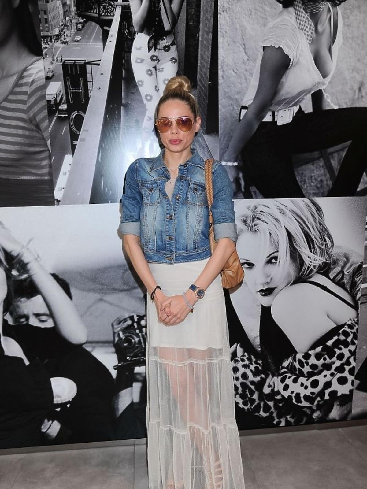 Magda Modra  na prezentacji kolekcji Guess