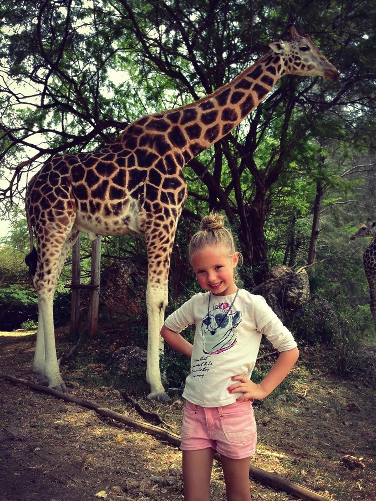 Magda Modra na rodzinnych  wakacjach w Kenii