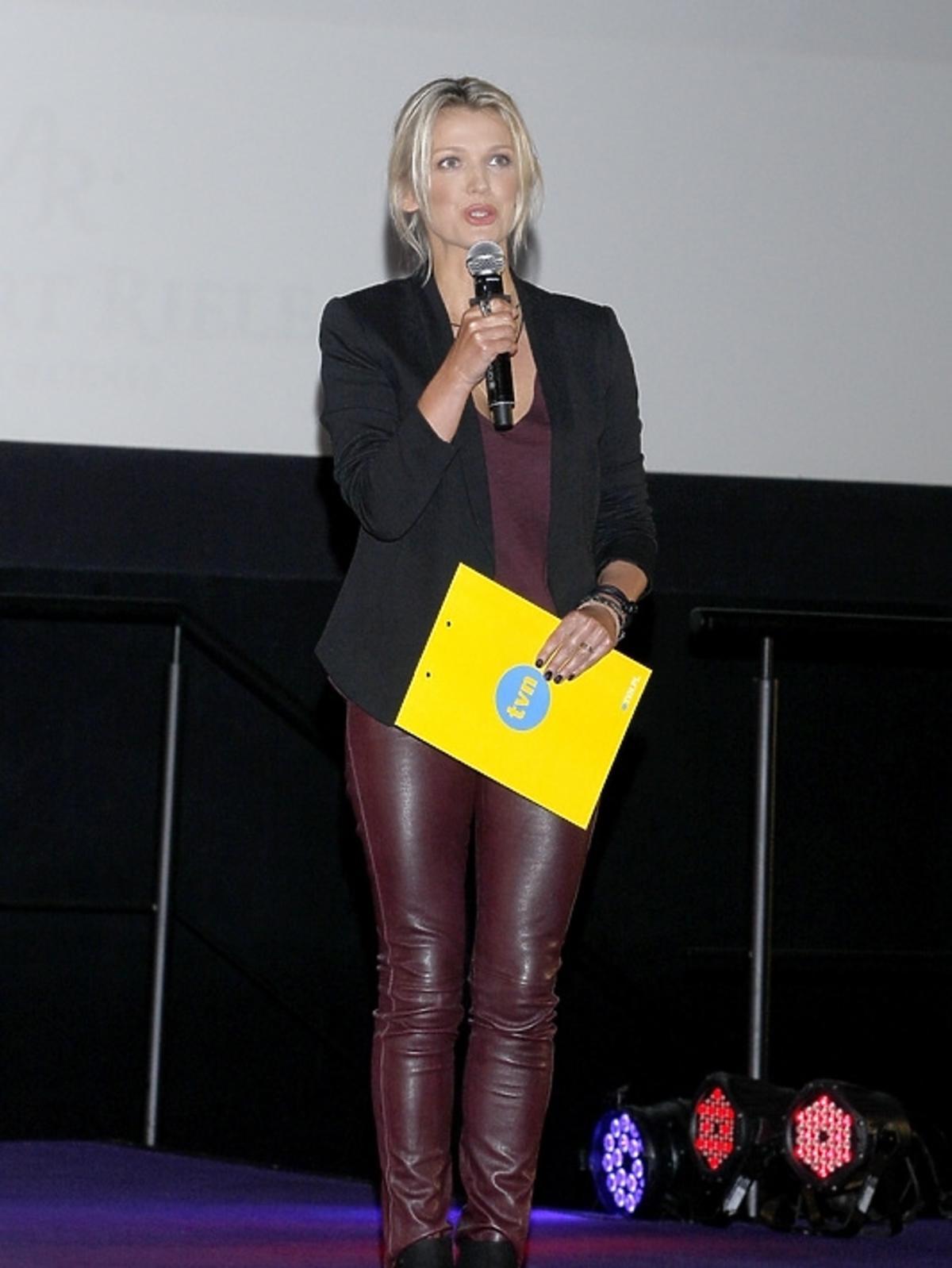 Magda Mołek na premierze filmu