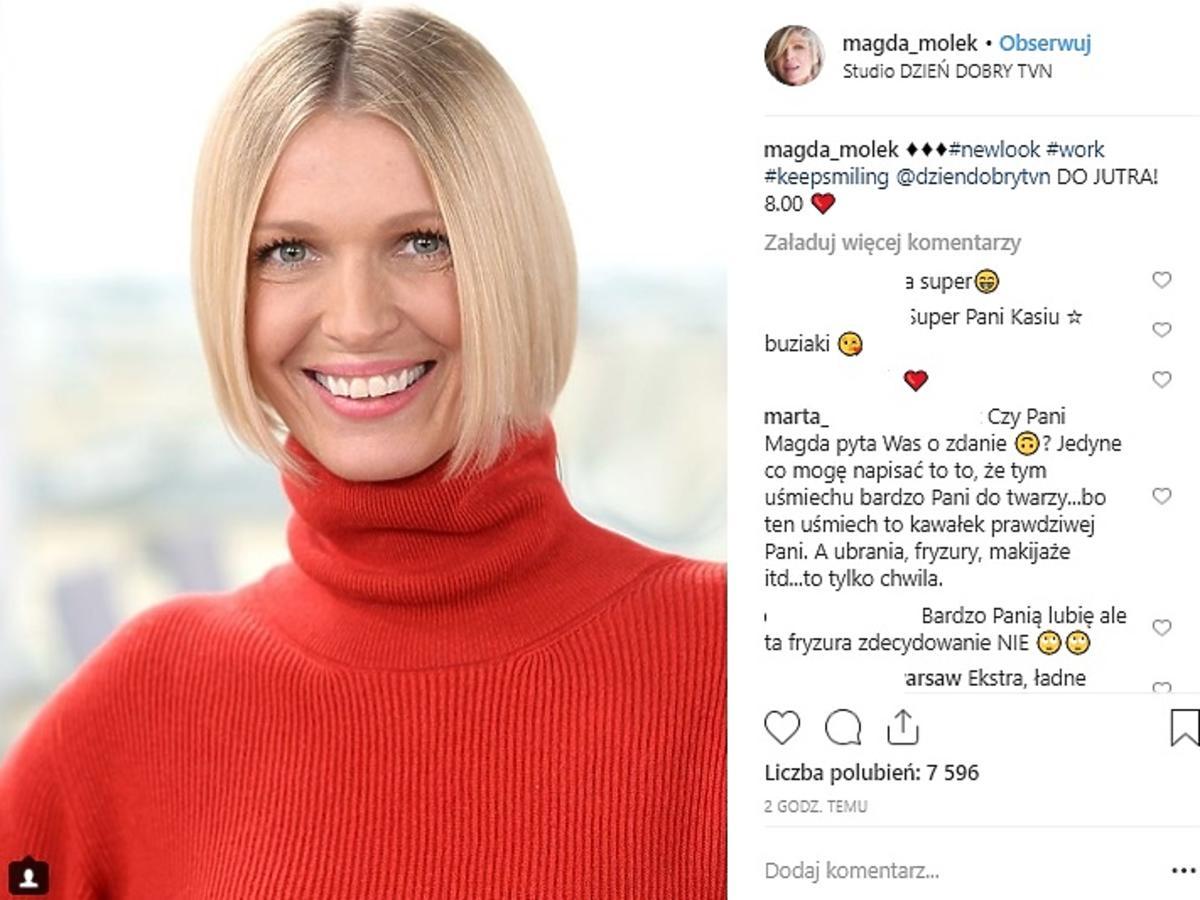 Magda Mołek nowa fryzura