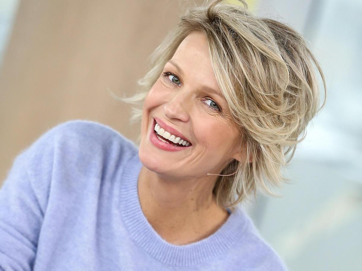 Magda Mołek w fioletowej bluzce
