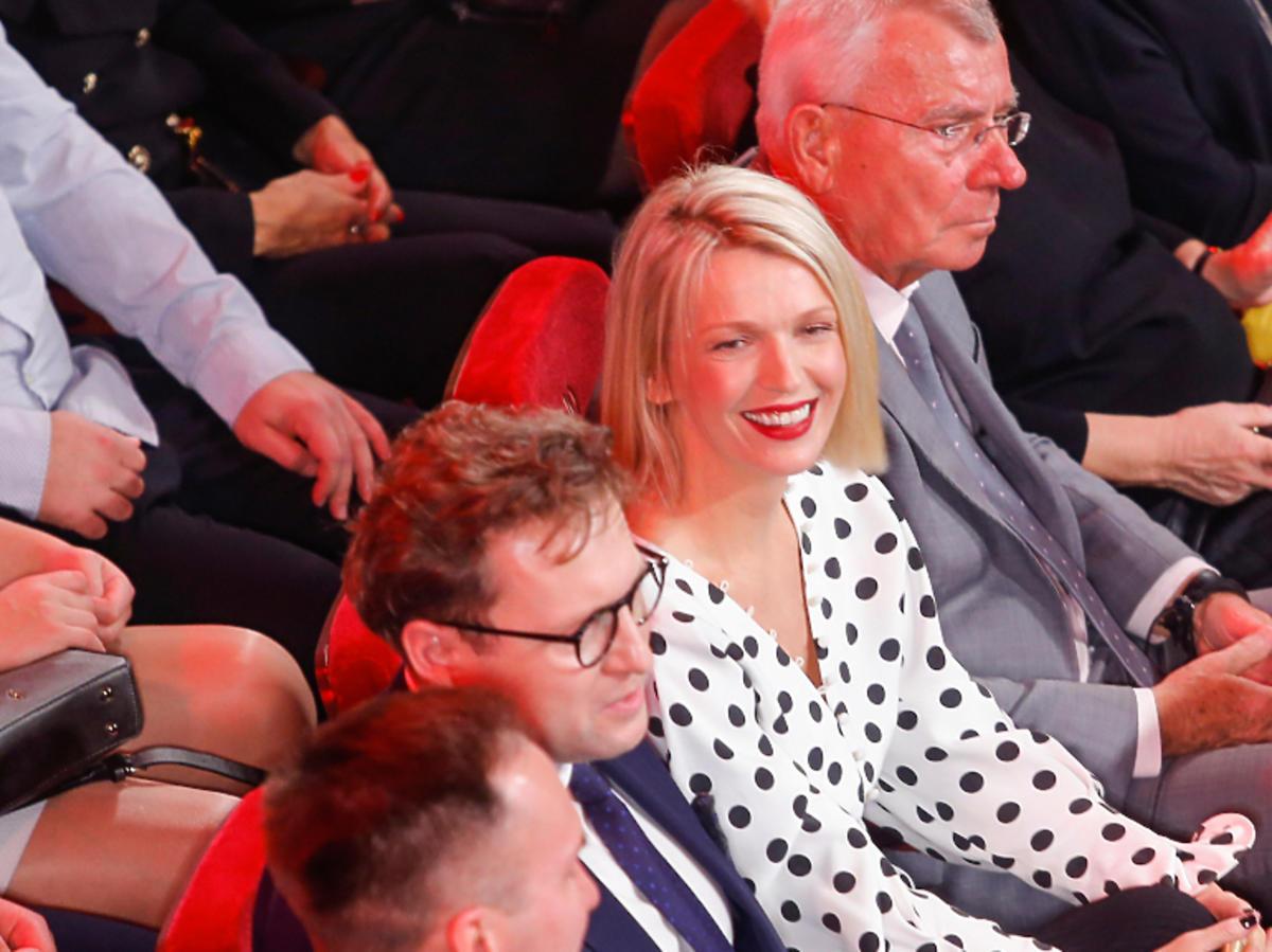 Magda Mołek z mężem na gali Paszporty Polityki