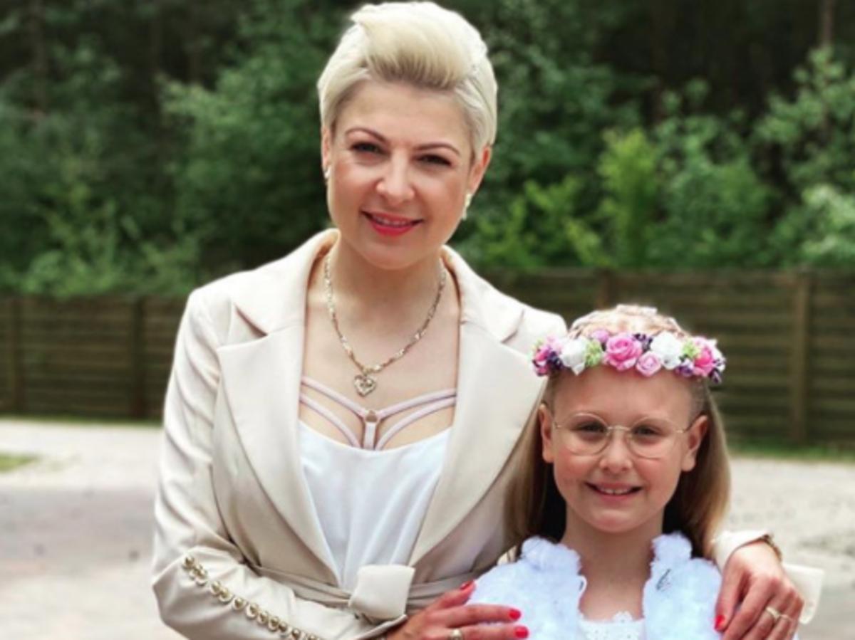 Magda Narożna z córką