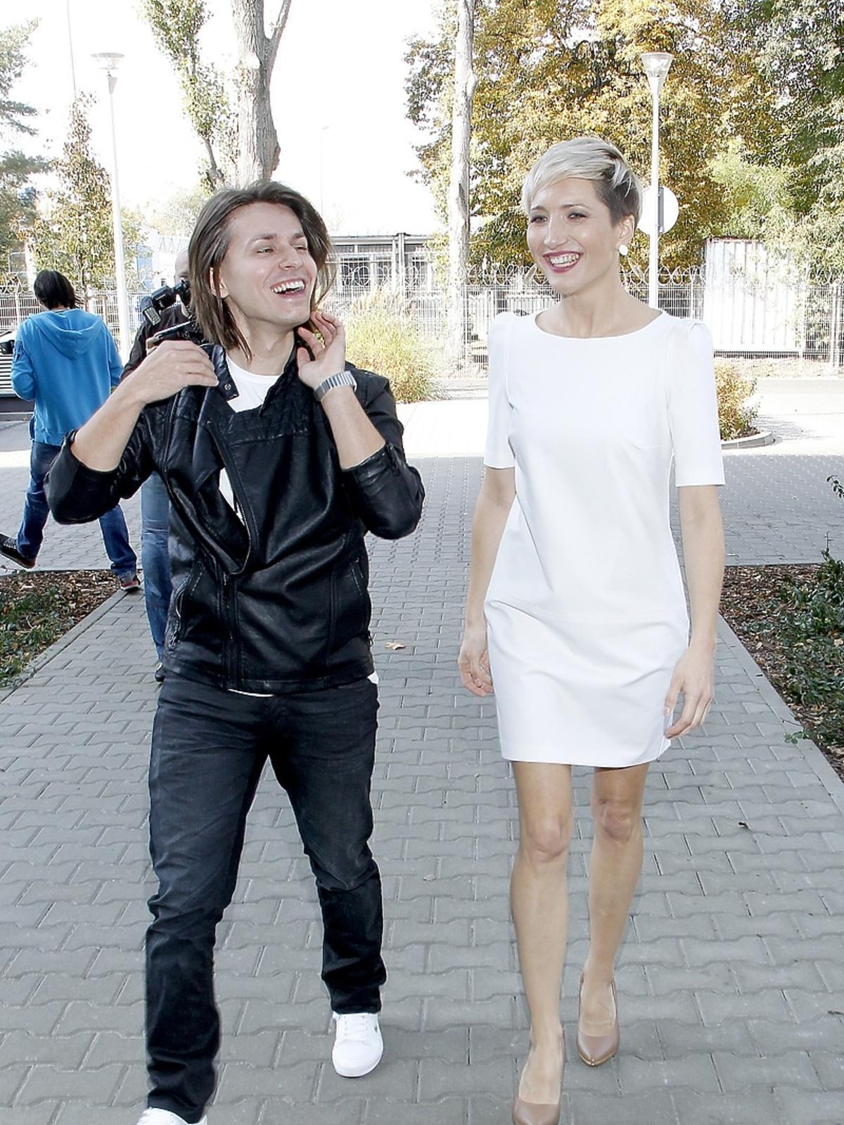 Magda Steczkowska i Kuba Molęda na konferencji przeciwko białaczce