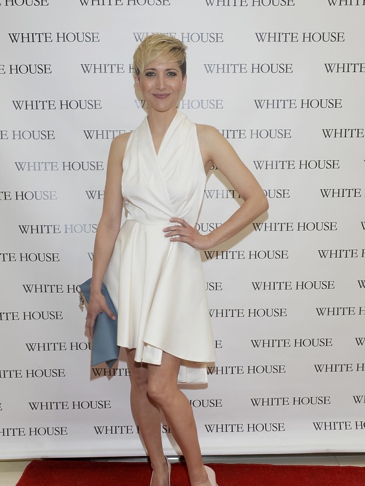 Magda Steczkowska na prezentacji w showroomie White House