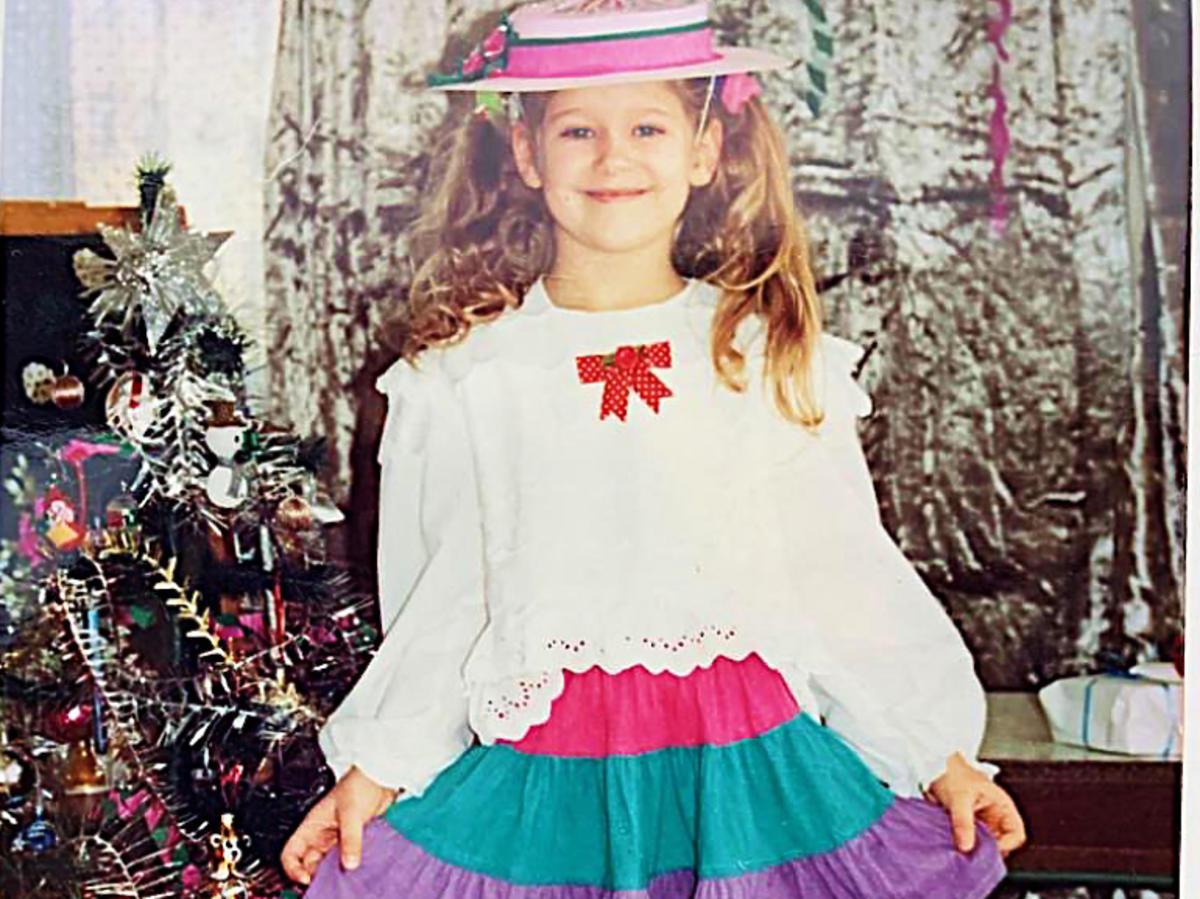 Magda Wójcik jako kilkuletnia dziewczynka