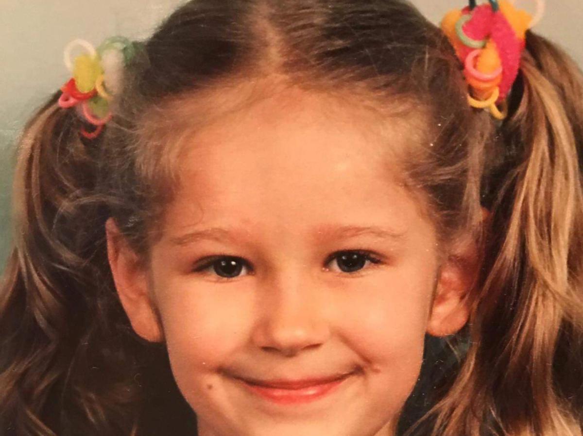 Magda Wójcik na zdjęciu z dzieciństwa