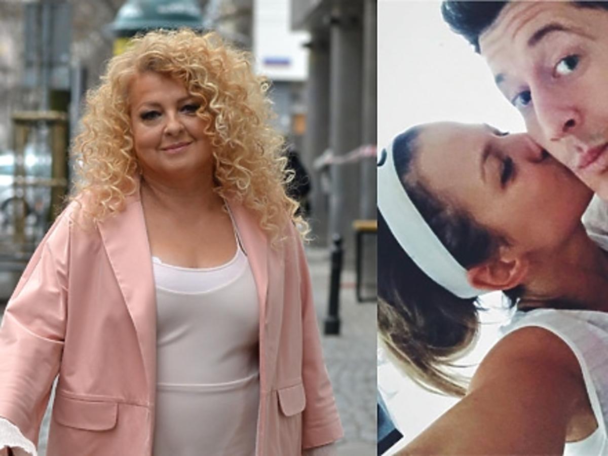 Magdal Gessler w rózowej sukience na ulicy, Anna Lewandowska całuje Lewandowskiego, Monika Olejnik w niebiskich okularach