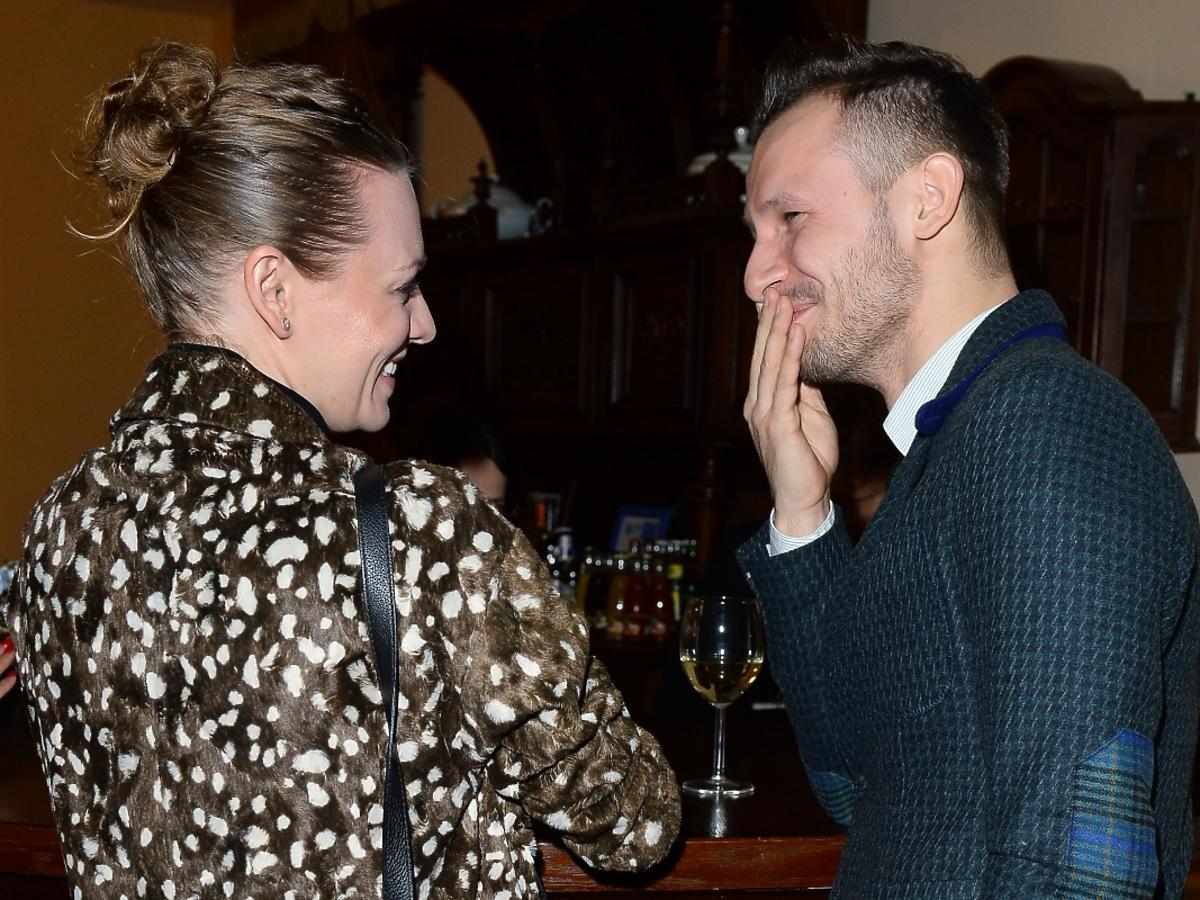 Magdalena Boczarska i Mateusz Banasiuk na premierze sztuki